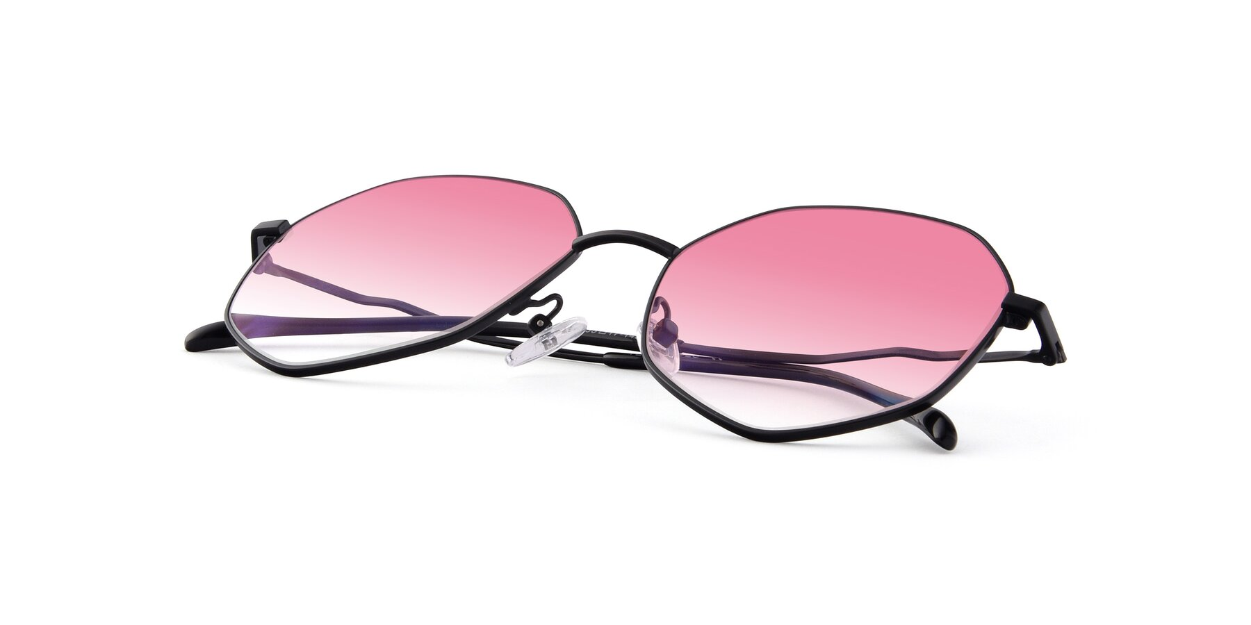 View of Sunshine in Black with Pink Gradient Lenses