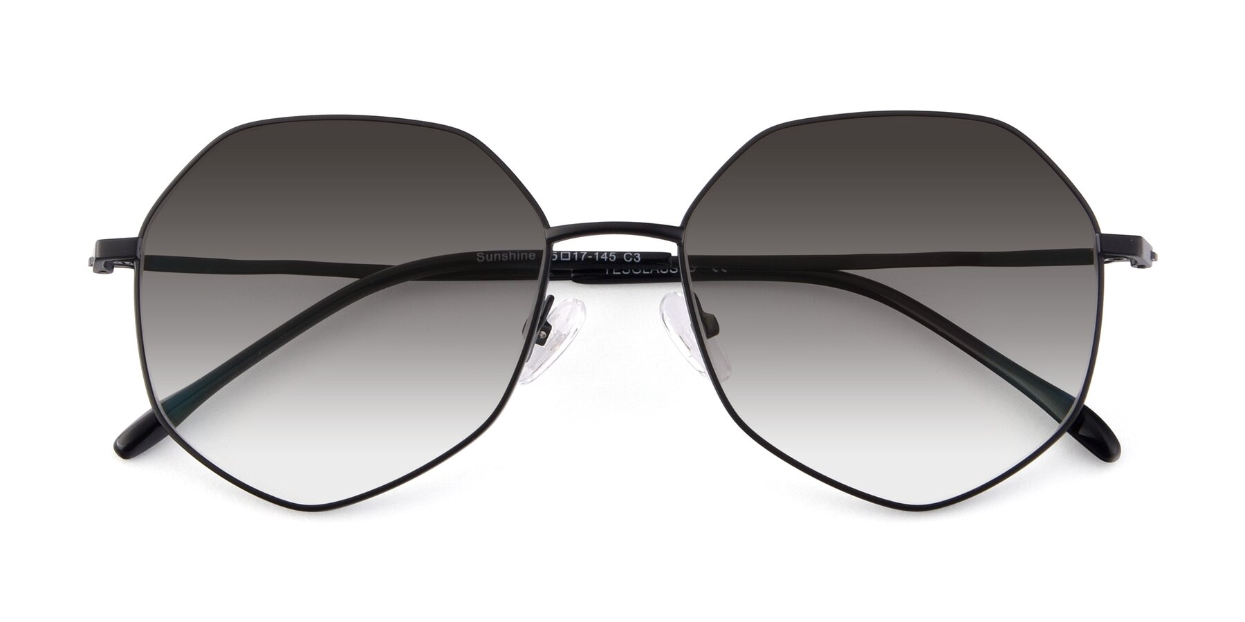 Folded Front of Sunshine in Black with Gray Gradient Lenses