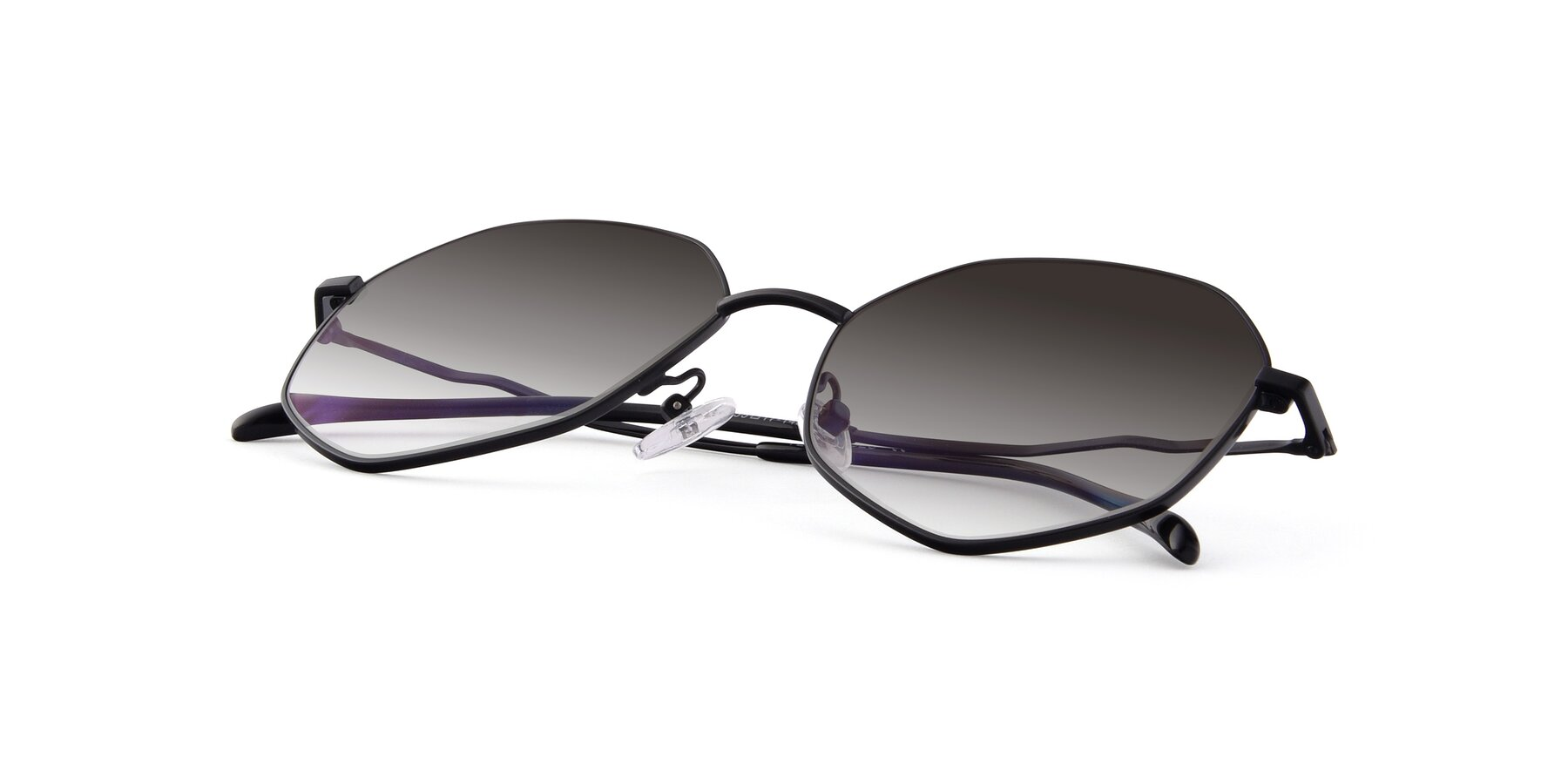 View of Sunshine in Black with Gray Gradient Lenses