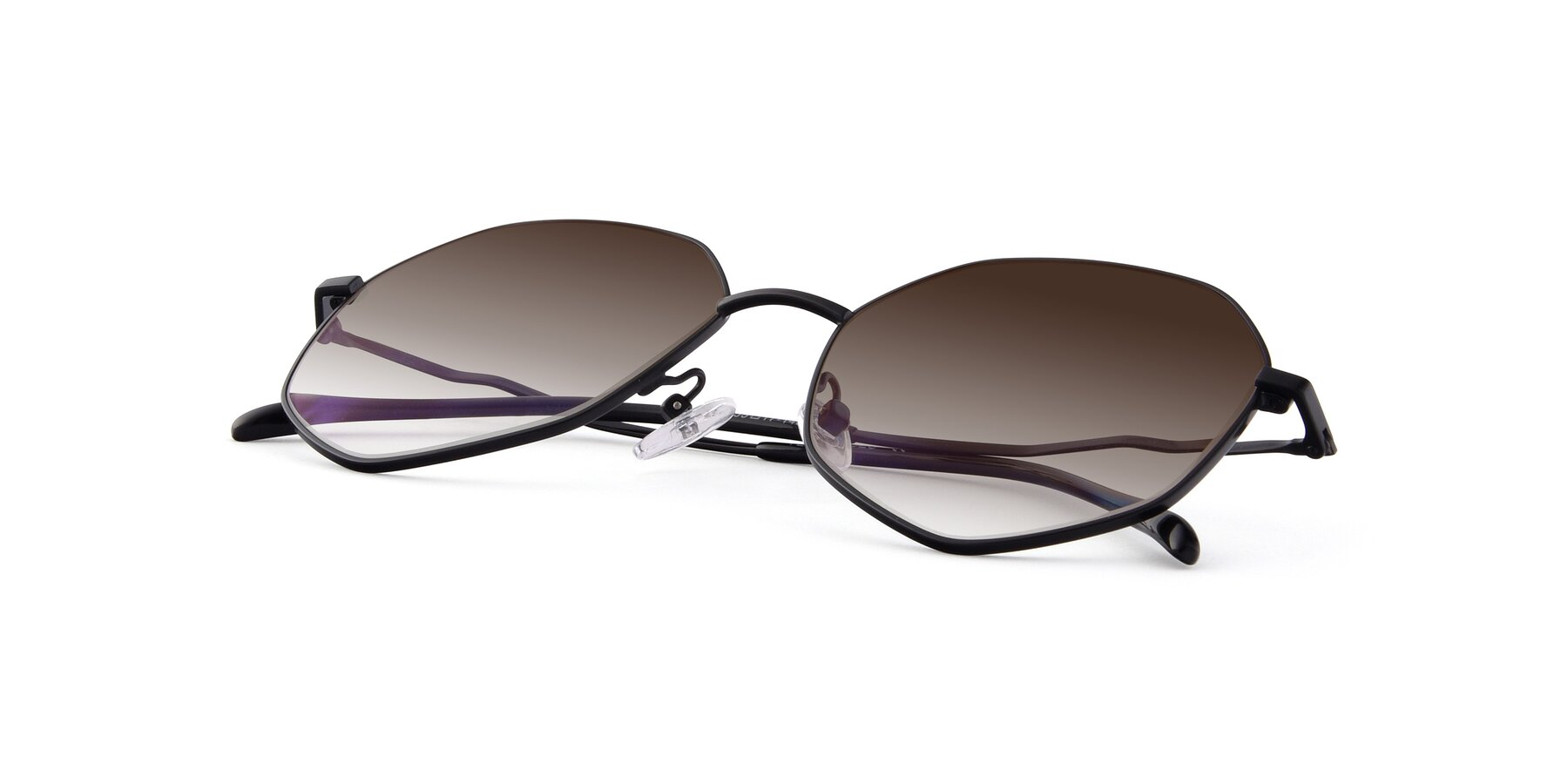 View of Sunshine in Black with Brown Gradient Lenses