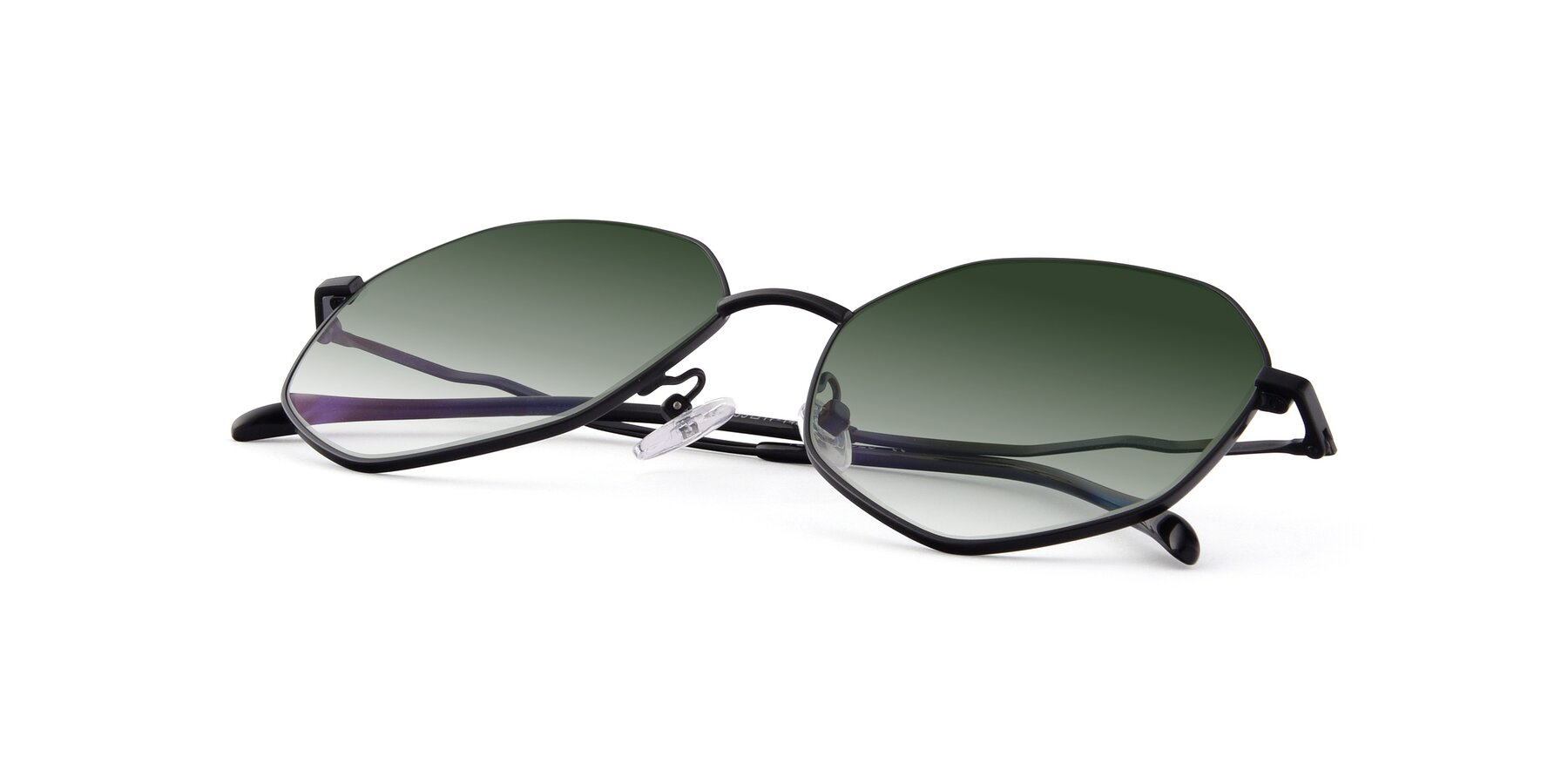 View of Sunshine in Black with Green Gradient Lenses