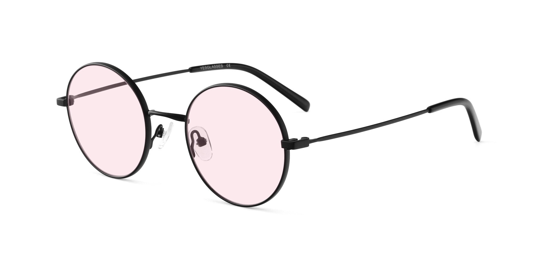 Angle of Moore in Black with Light Pink Tinted Lenses