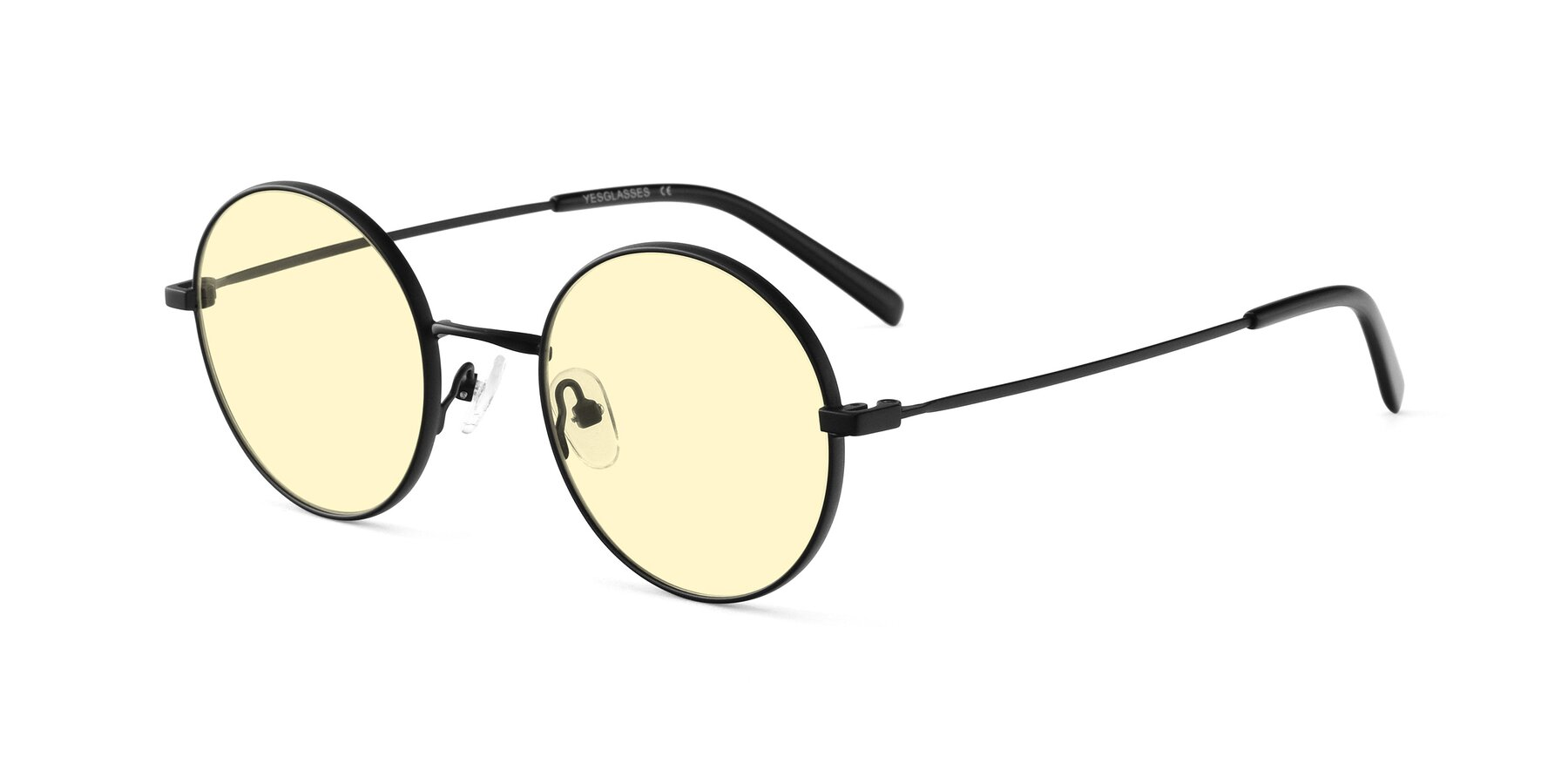 Angle of Moore in Black with Light Yellow Tinted Lenses