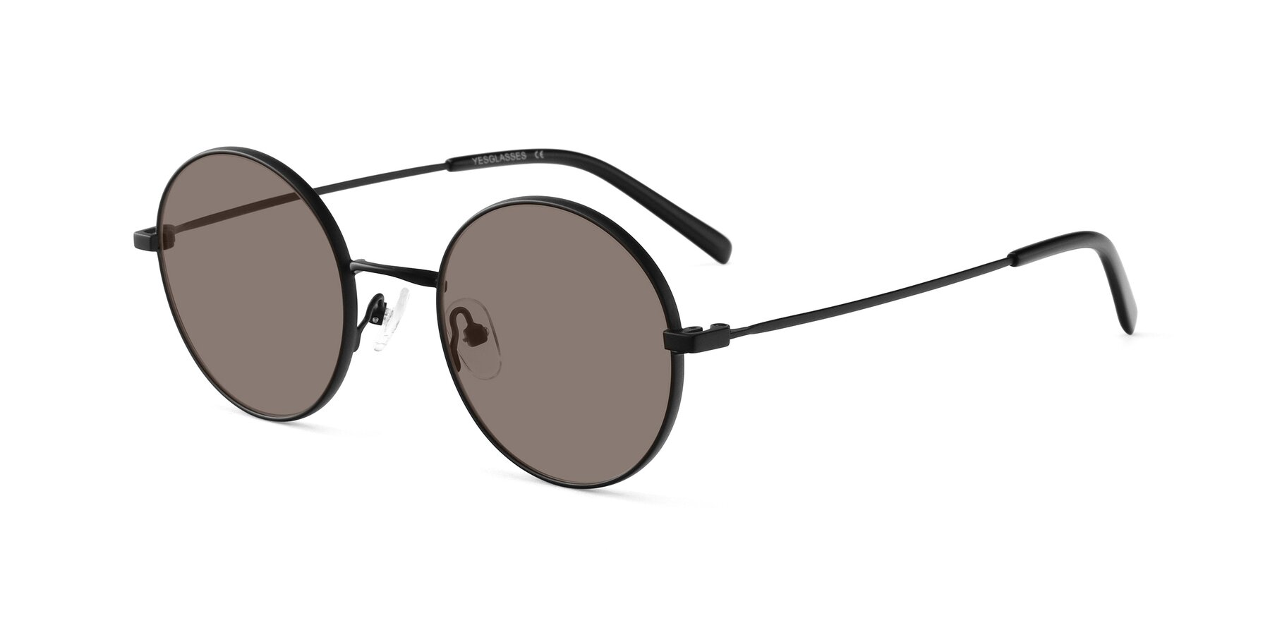 Angle of Moore in Black with Medium Brown Tinted Lenses