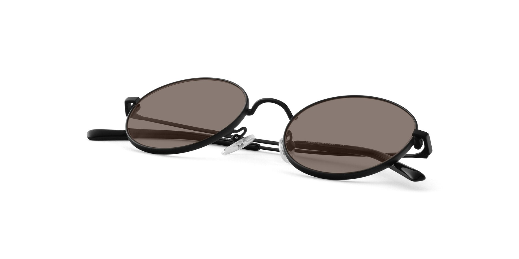 View of Moore in Black with Medium Brown Tinted Lenses