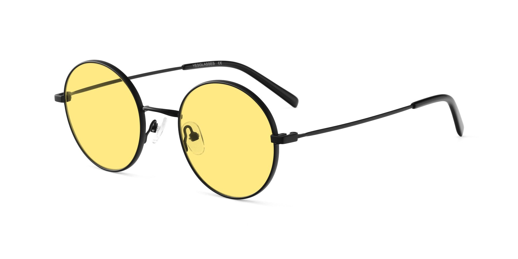 Angle of Moore in Black with Medium Yellow Tinted Lenses