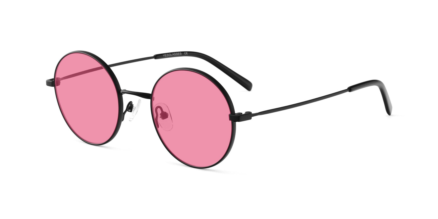 Angle of Moore in Black with Pink Tinted Lenses