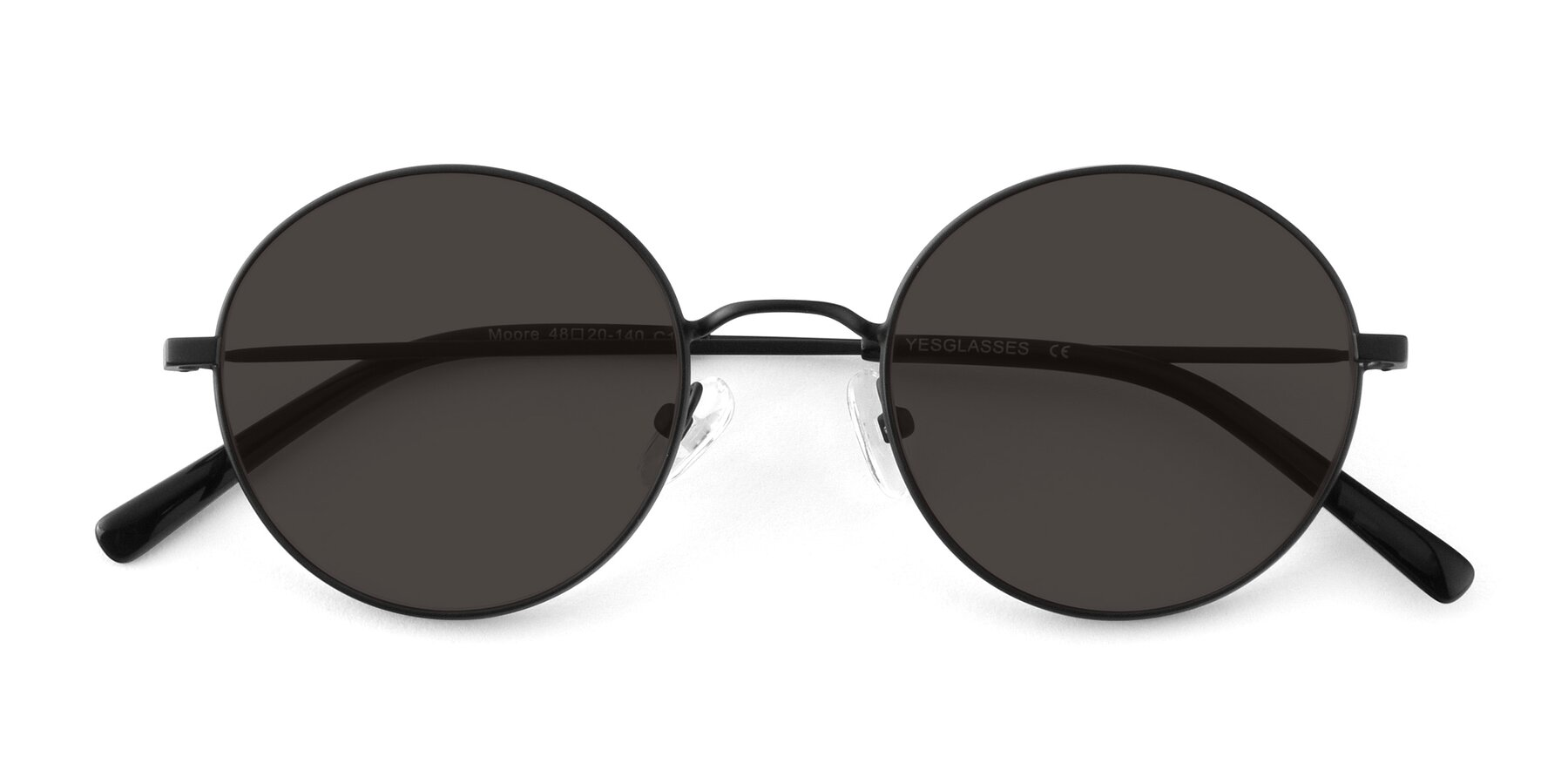 Folded Front of Moore in Black with Gray Tinted Lenses