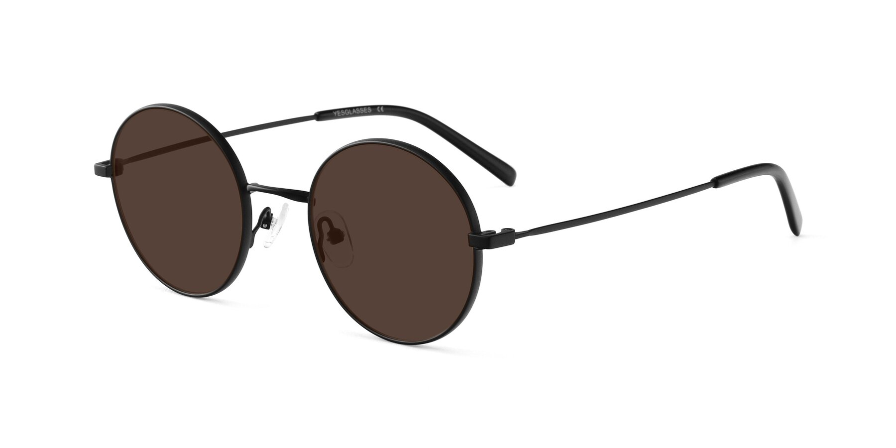 Angle of Moore in Black with Brown Tinted Lenses