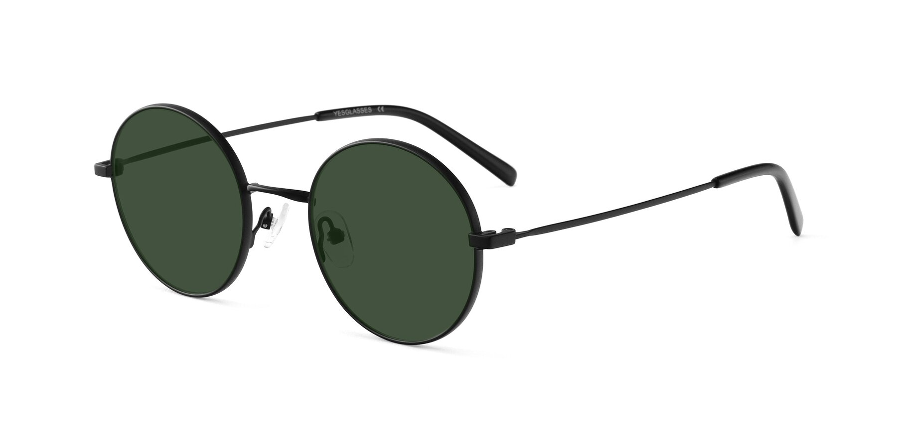 Angle of Moore in Black with Green Tinted Lenses