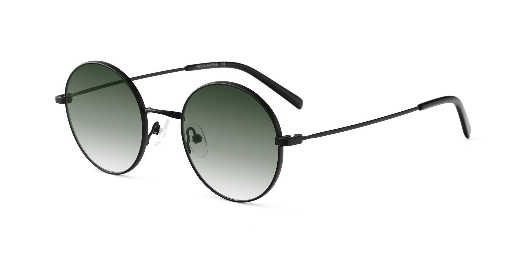 Angle of Moore in Black with Green Gradient Lenses