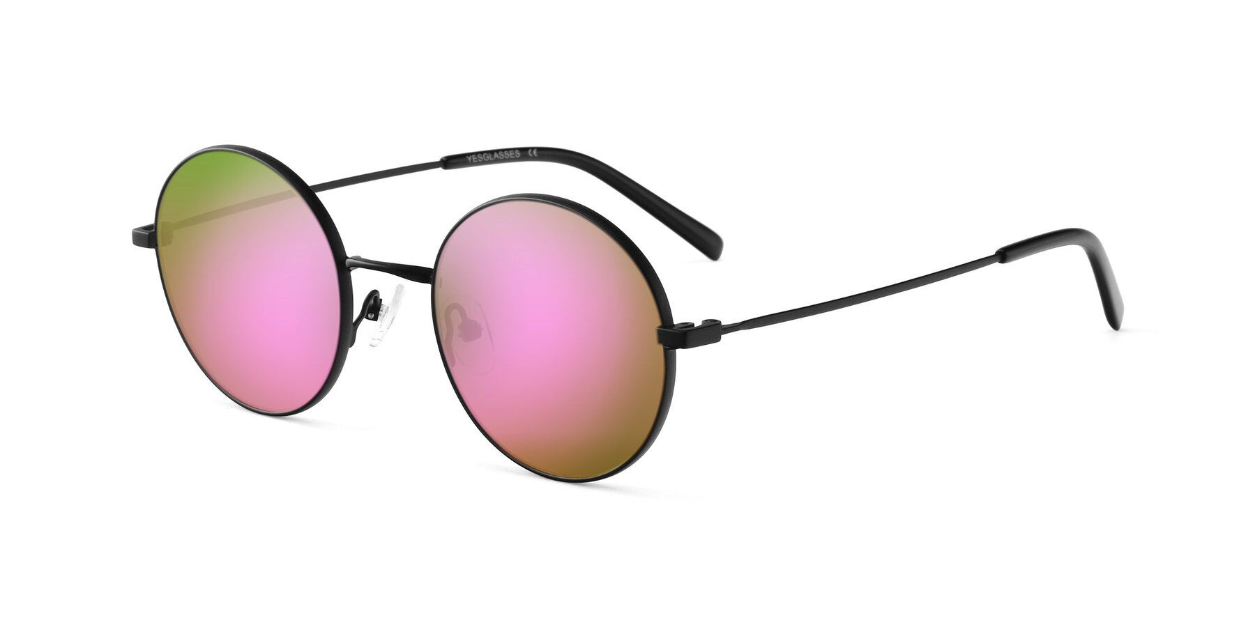 Angle of Moore in Black with Pink Mirrored Lenses