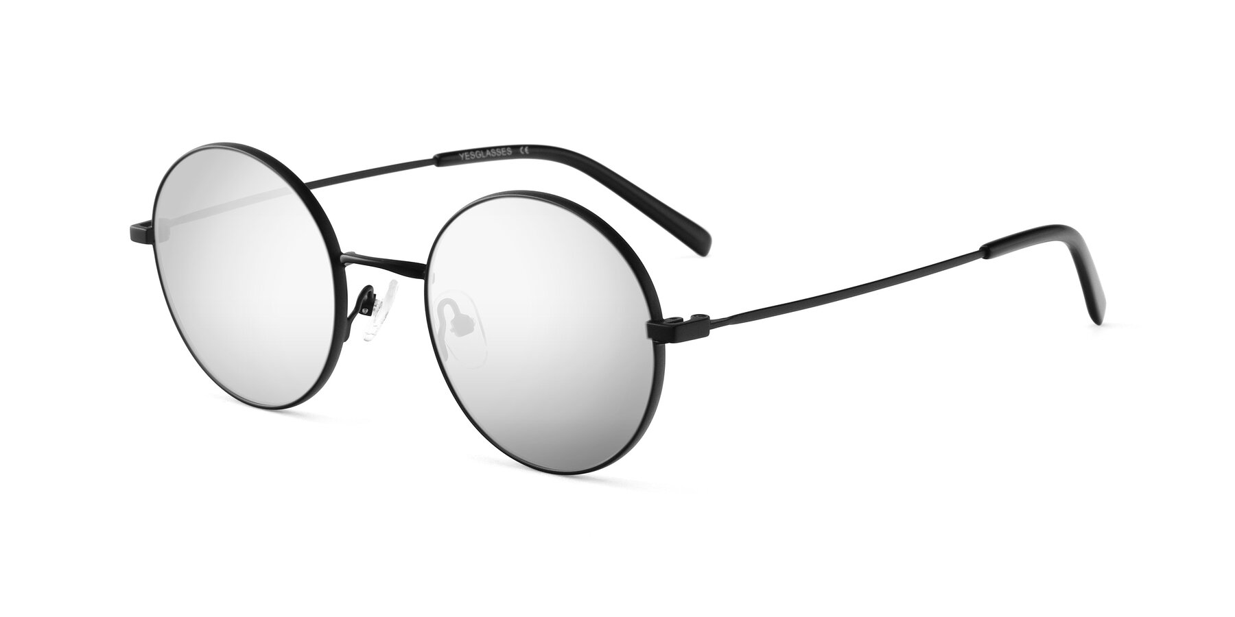 Angle of Moore in Black with Silver Mirrored Lenses