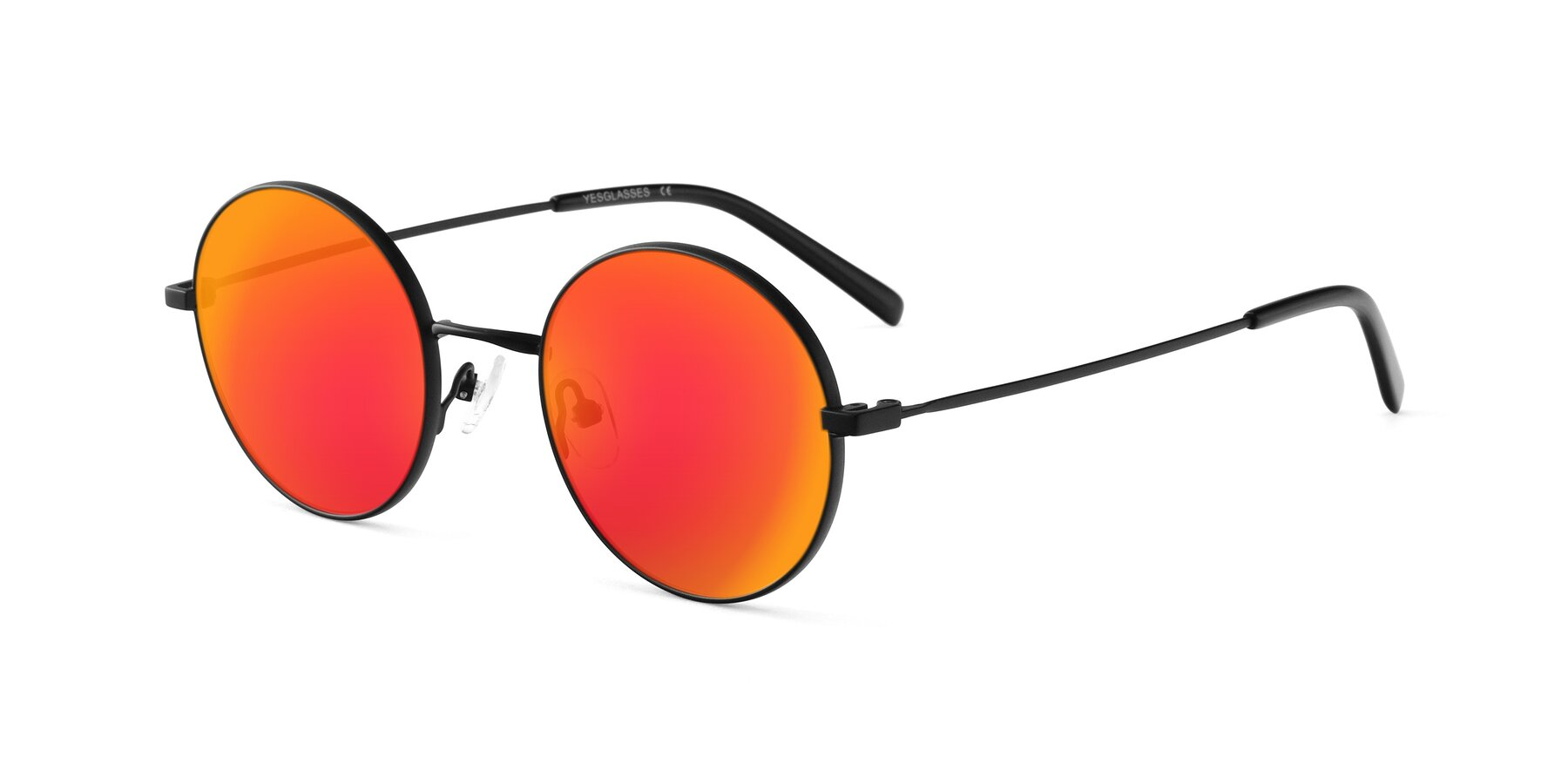 Angle of Moore in Black with Red Gold Mirrored Lenses