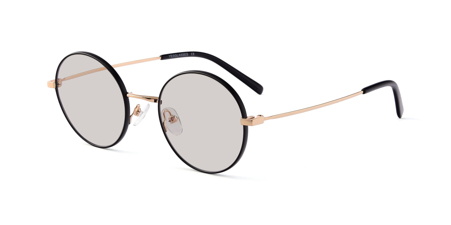 Angle of Moore in Black-Gold with Light Brown Tinted Lenses
