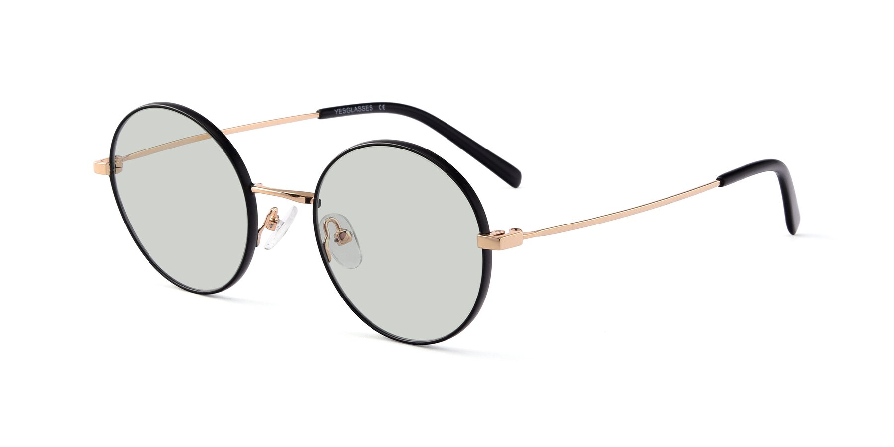 Angle of Moore in Black-Gold with Light Green Tinted Lenses