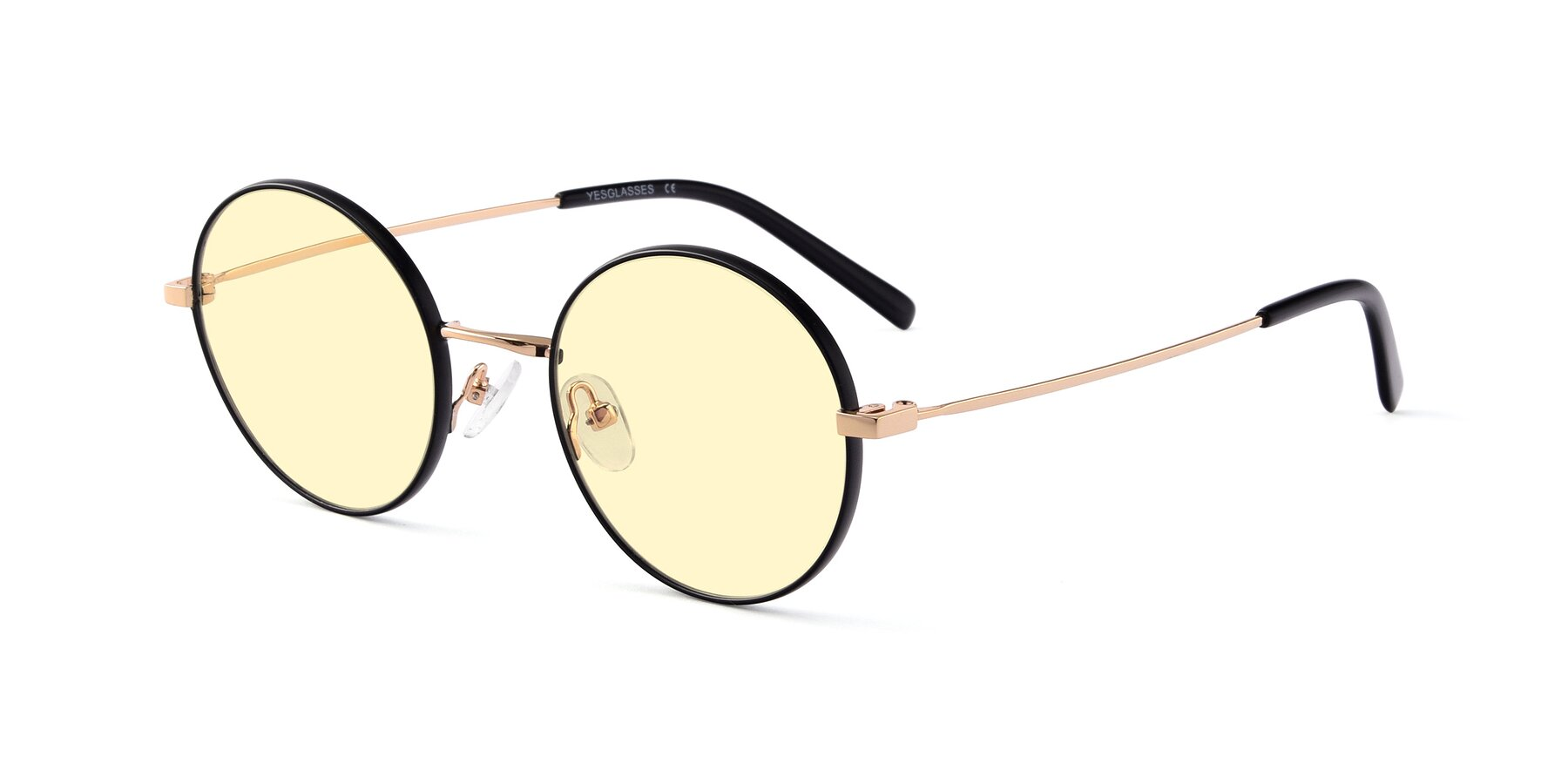 Angle of Moore in Black-Gold with Light Yellow Tinted Lenses