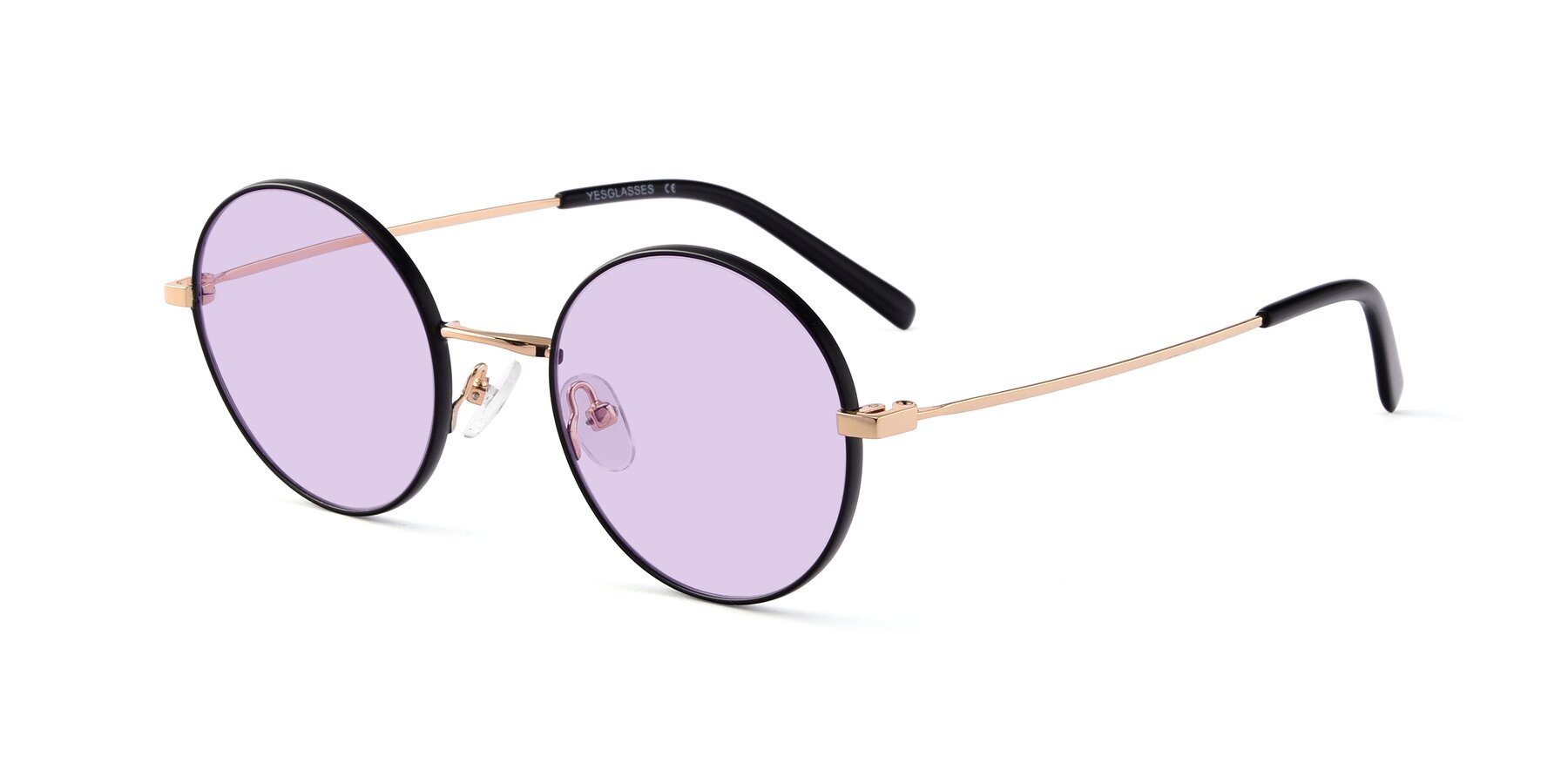 Angle of Moore in Black-Gold with Light Purple Tinted Lenses