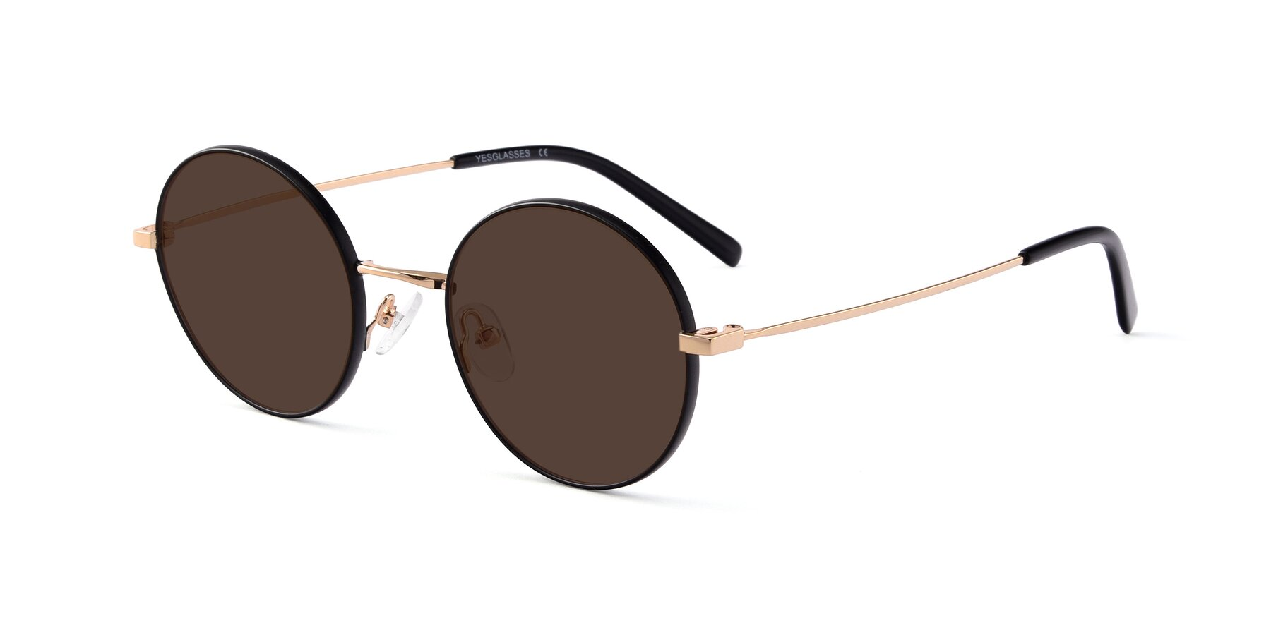 Angle of Moore in Black-Gold with Brown Tinted Lenses