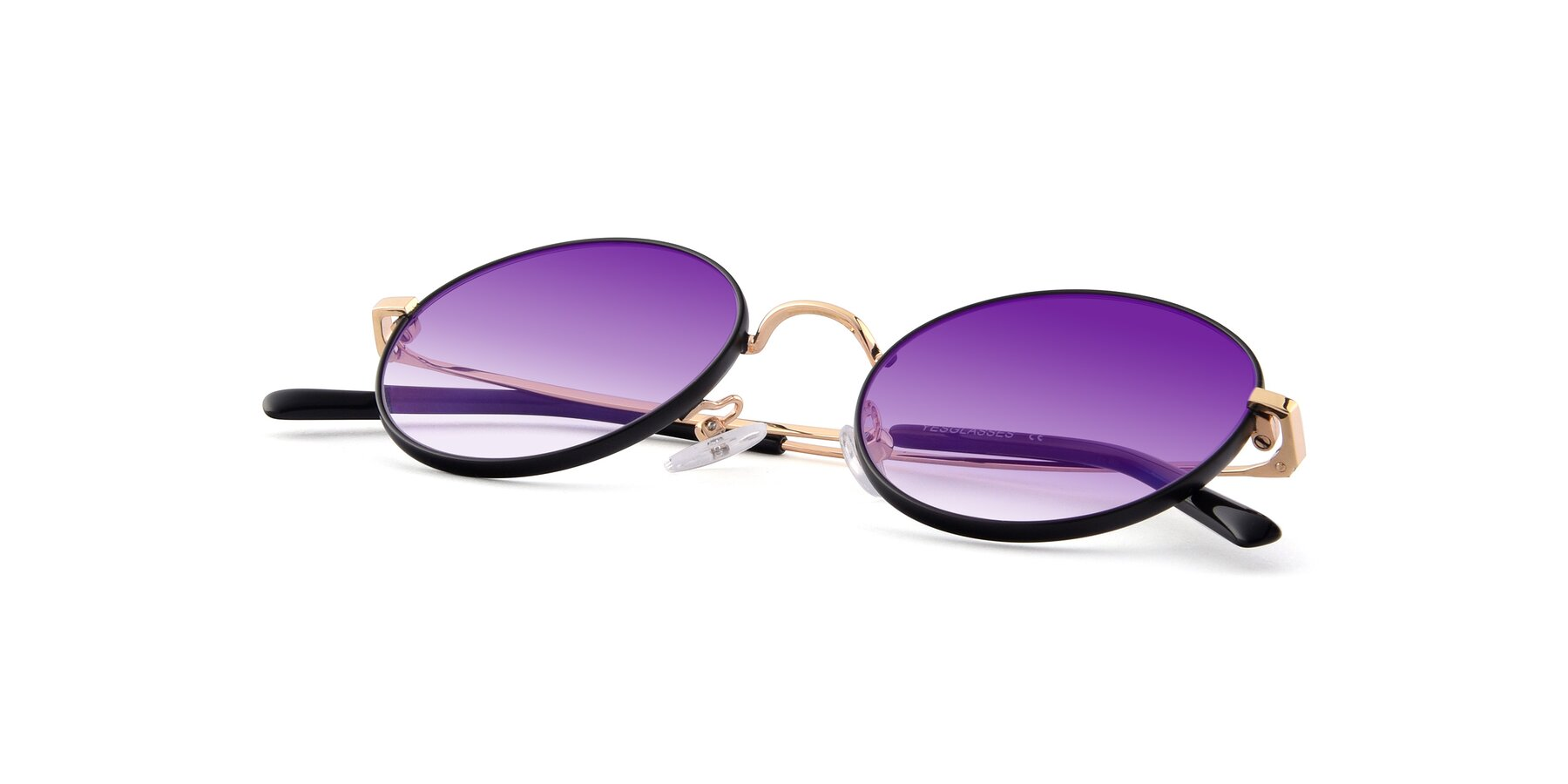 View of Moore in Black-Gold with Purple Gradient Lenses