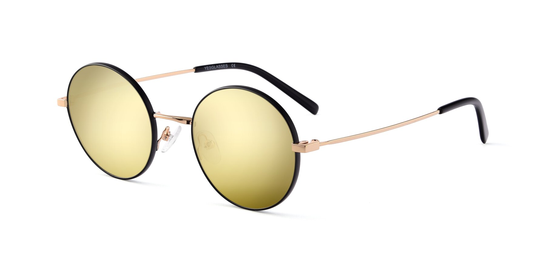 Angle of Moore in Black-Gold with Gold Mirrored Lenses