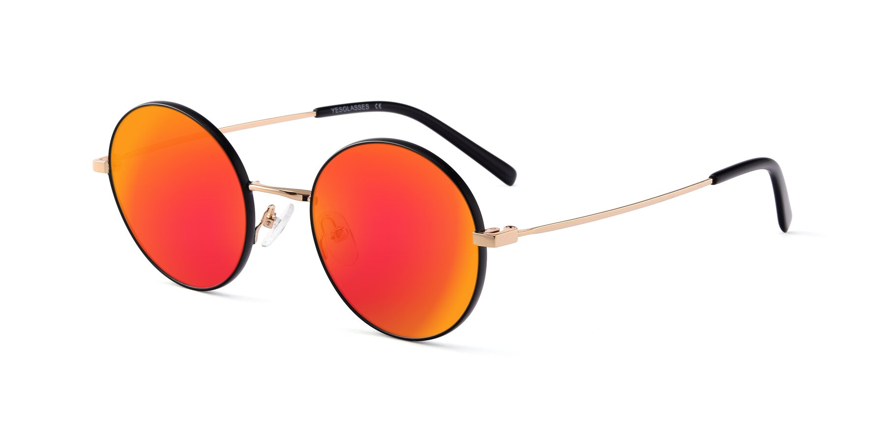 Angle of Moore in Black-Gold with Red Gold Mirrored Lenses