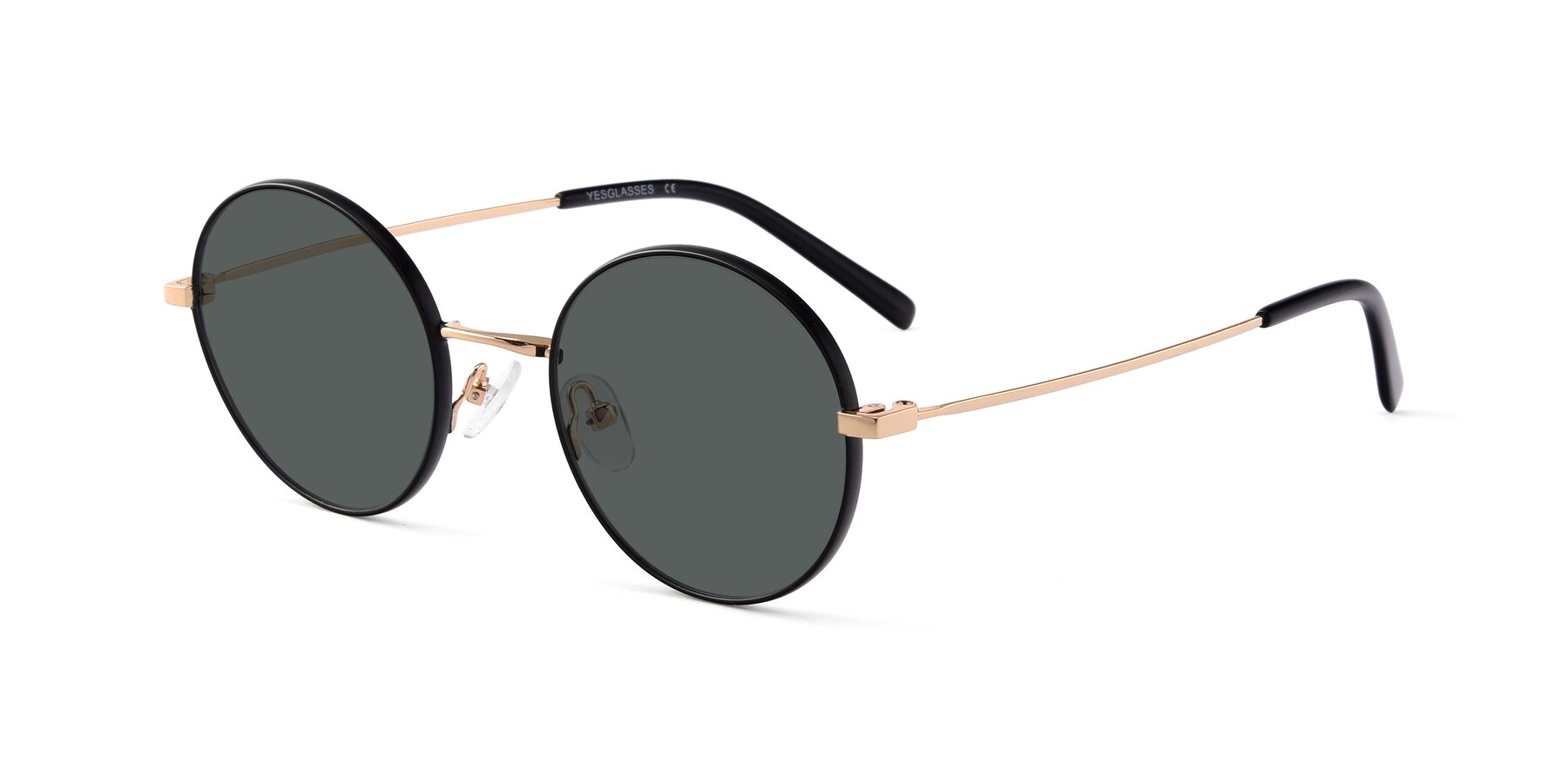 Angle of Moore in Black-Gold with Gray Polarized Lenses