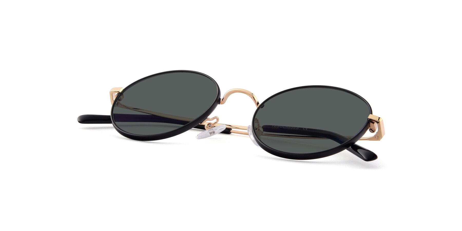 View of Moore in Black-Gold with Gray Polarized Lenses