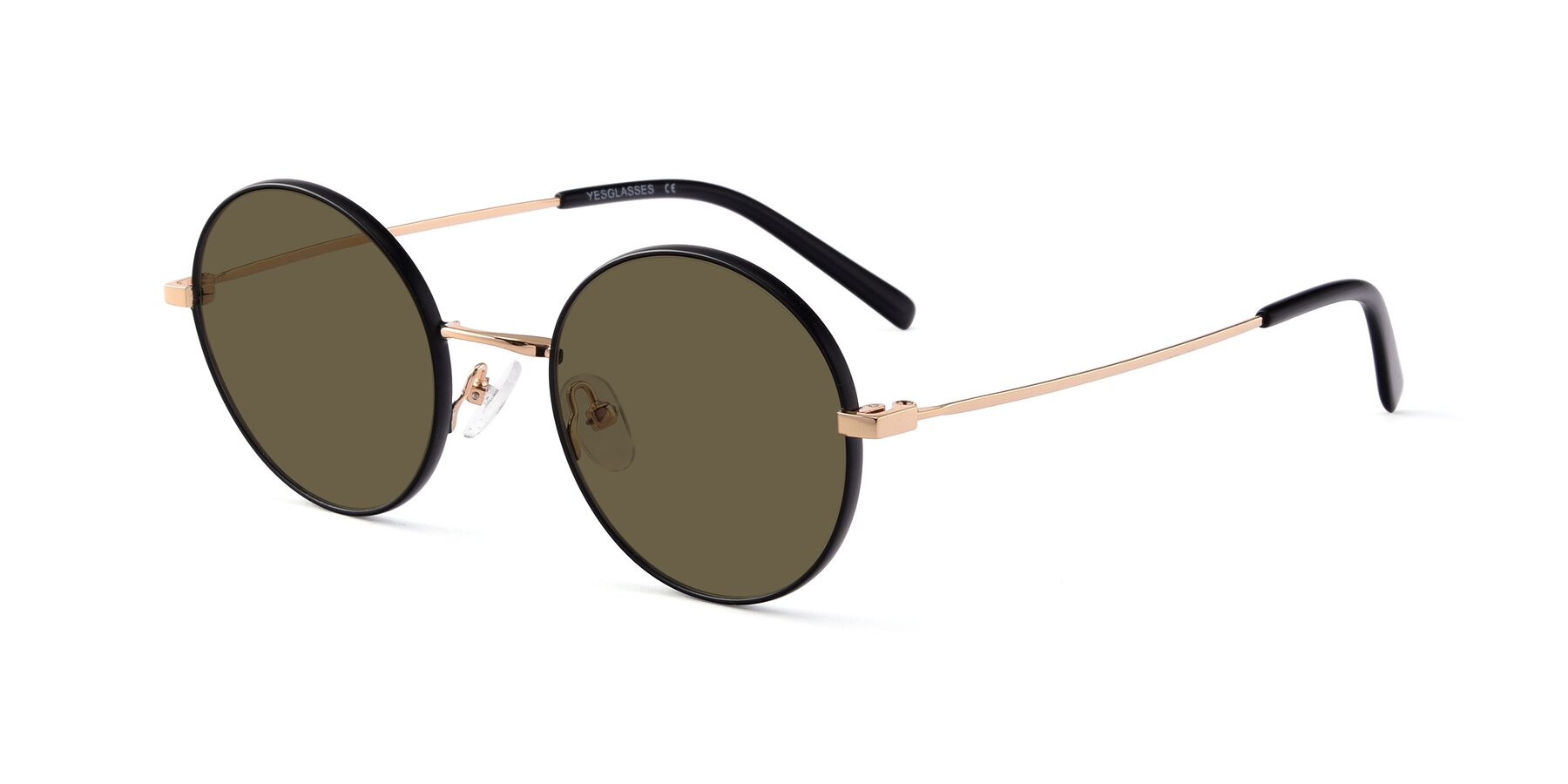 Angle of Moore in Black-Gold with Brown Polarized Lenses