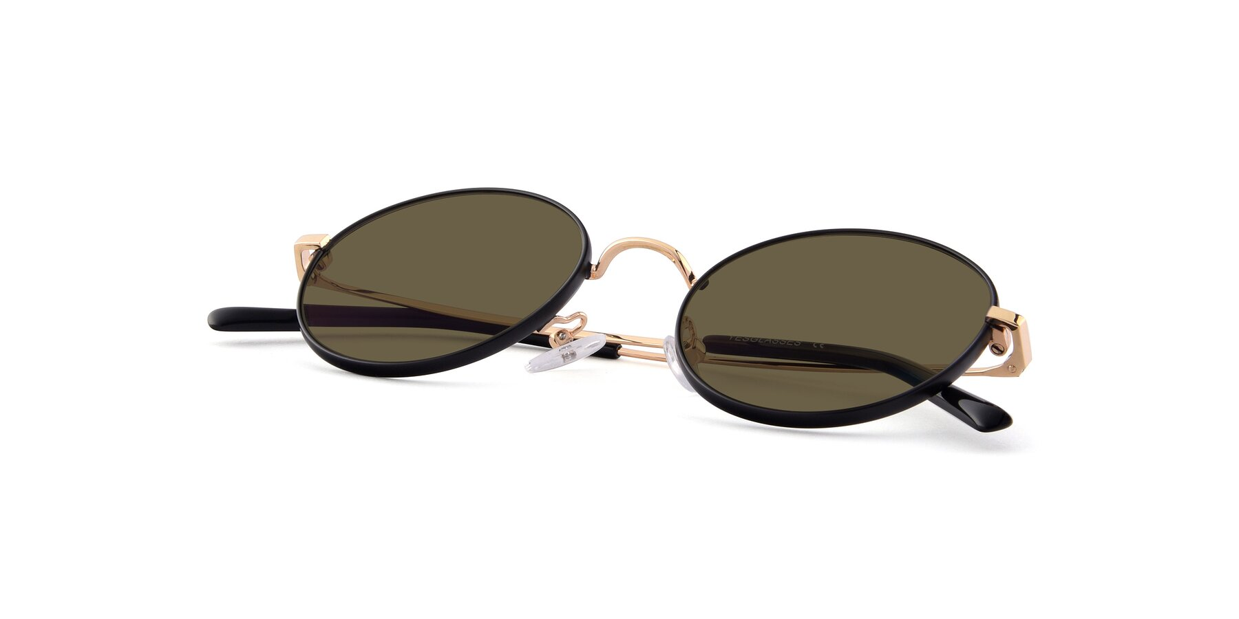 View of Moore in Black-Gold with Brown Polarized Lenses
