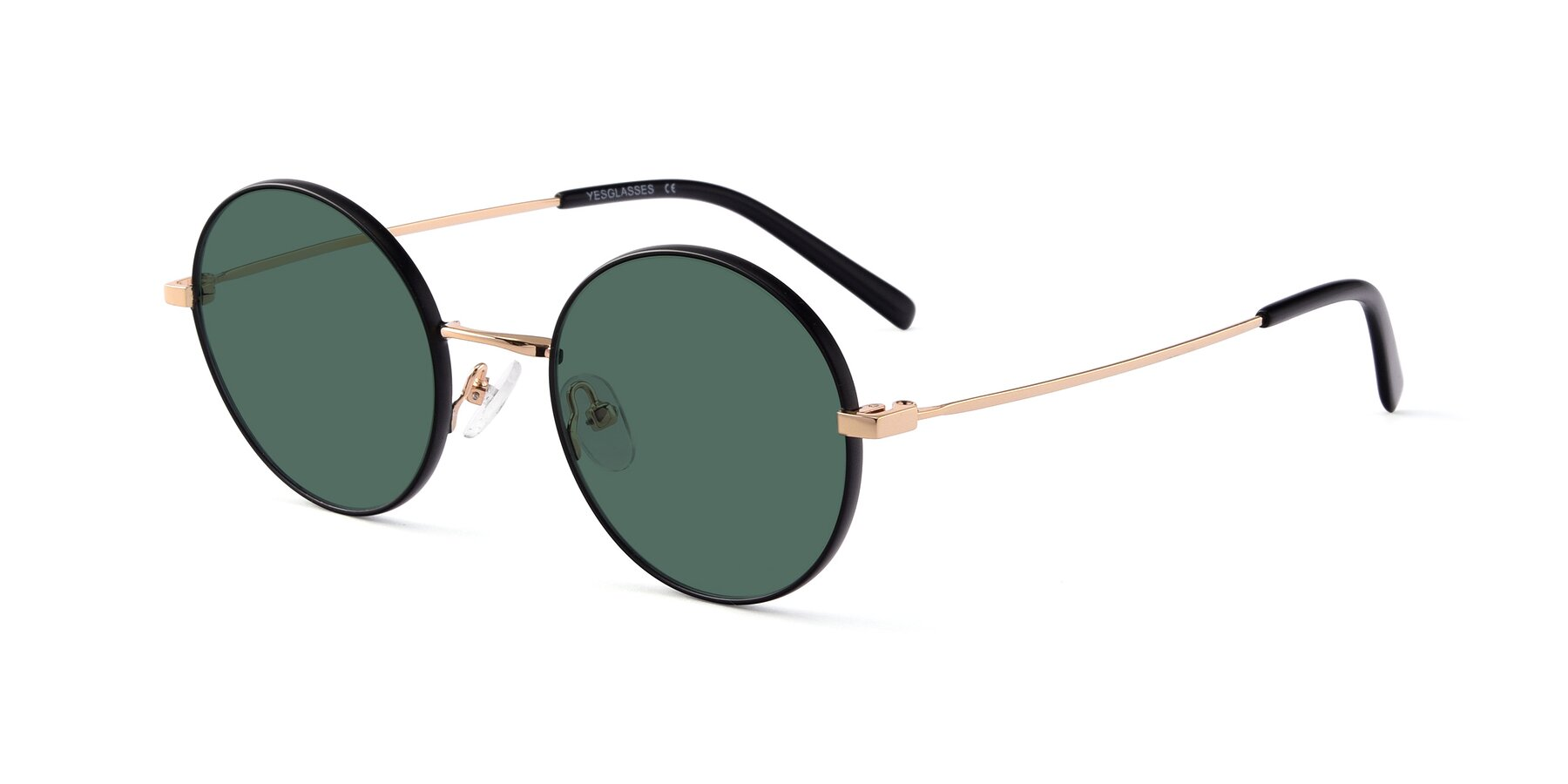 Angle of Moore in Black-Gold with Green Polarized Lenses
