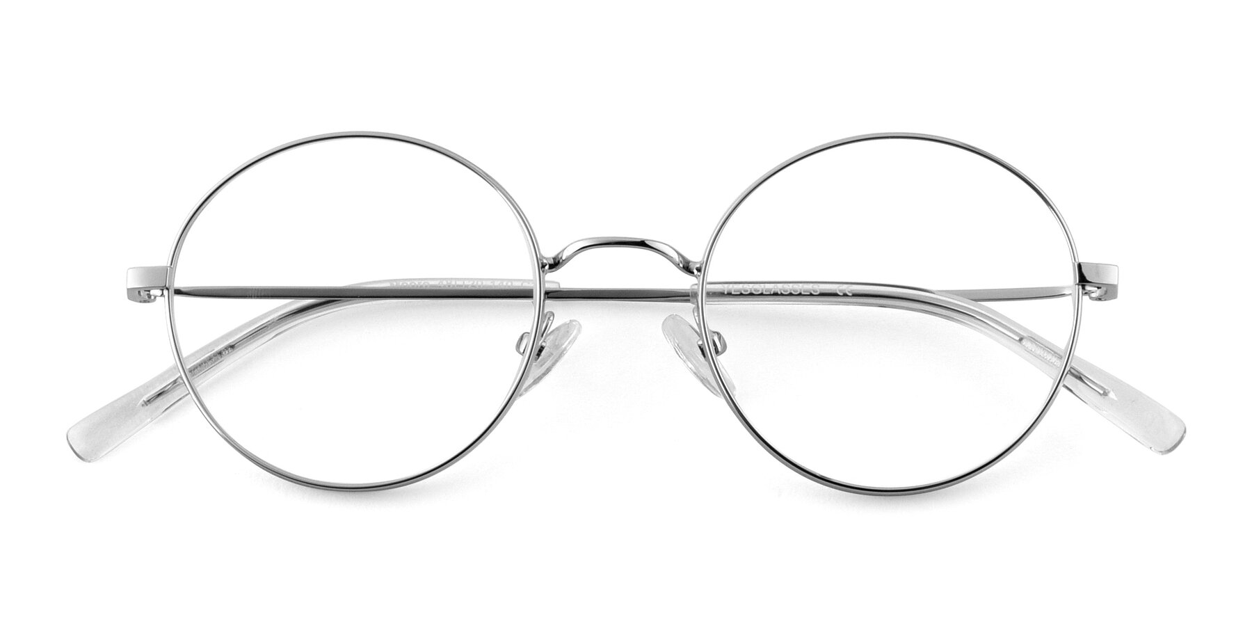 Folded Front of Moore in Silver with Clear Blue Light Blocking Lenses