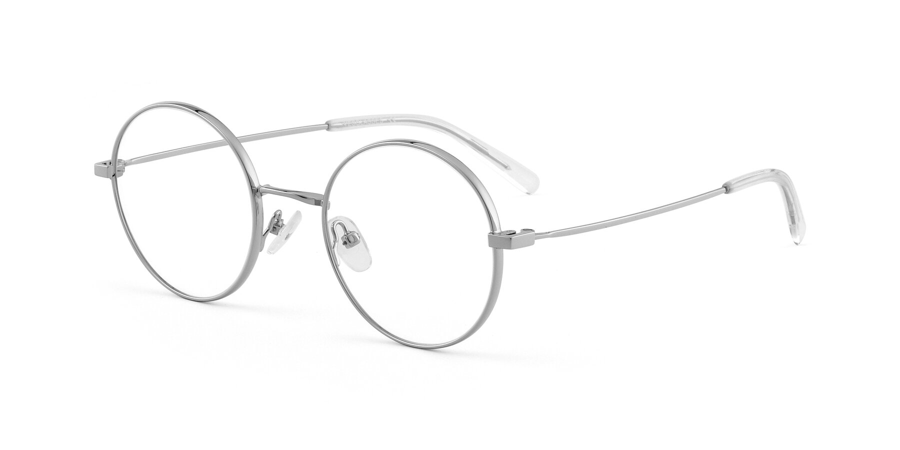 Angle of Moore in Silver with Clear Blue Light Blocking Lenses