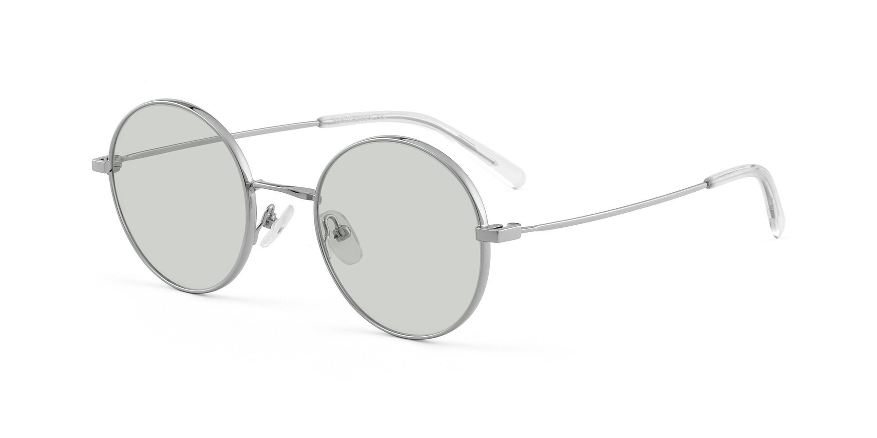 Angle of Moore in Silver with Light Green Tinted Lenses