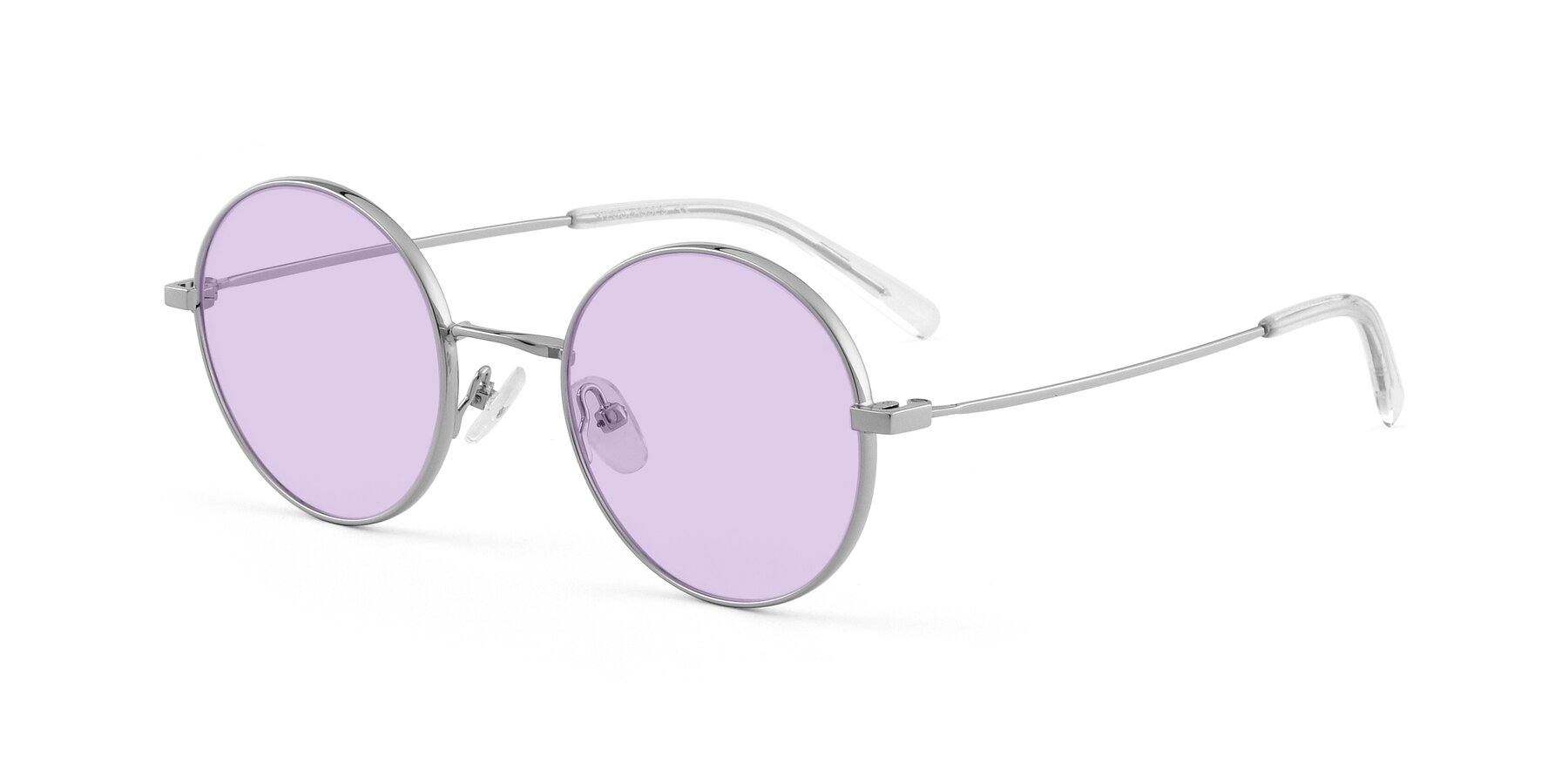 Angle of Moore in Silver with Light Purple Tinted Lenses