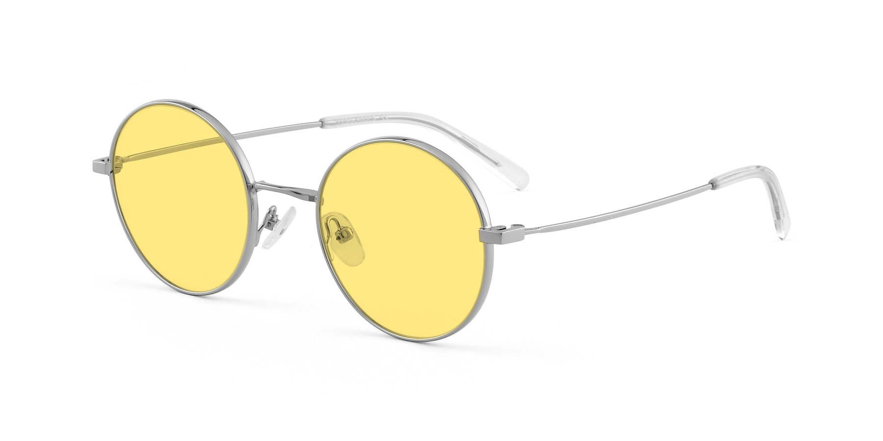 Angle of Moore in Silver with Medium Yellow Tinted Lenses