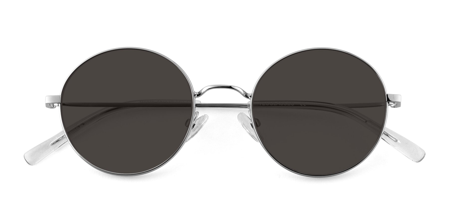 Folded Front of Moore in Sliver with Gray Tinted Lenses