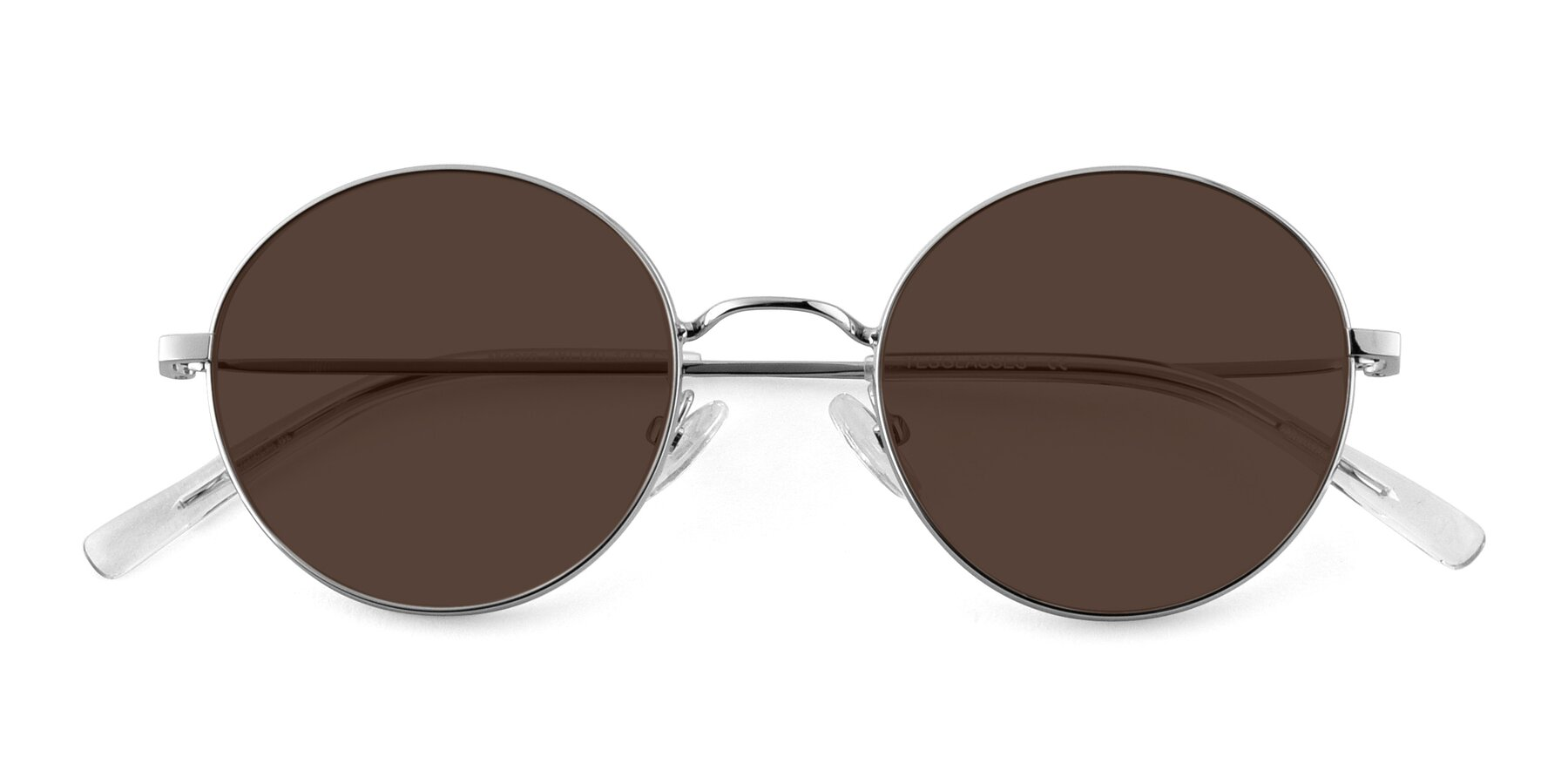 Folded Front of Moore in Silver with Brown Tinted Lenses