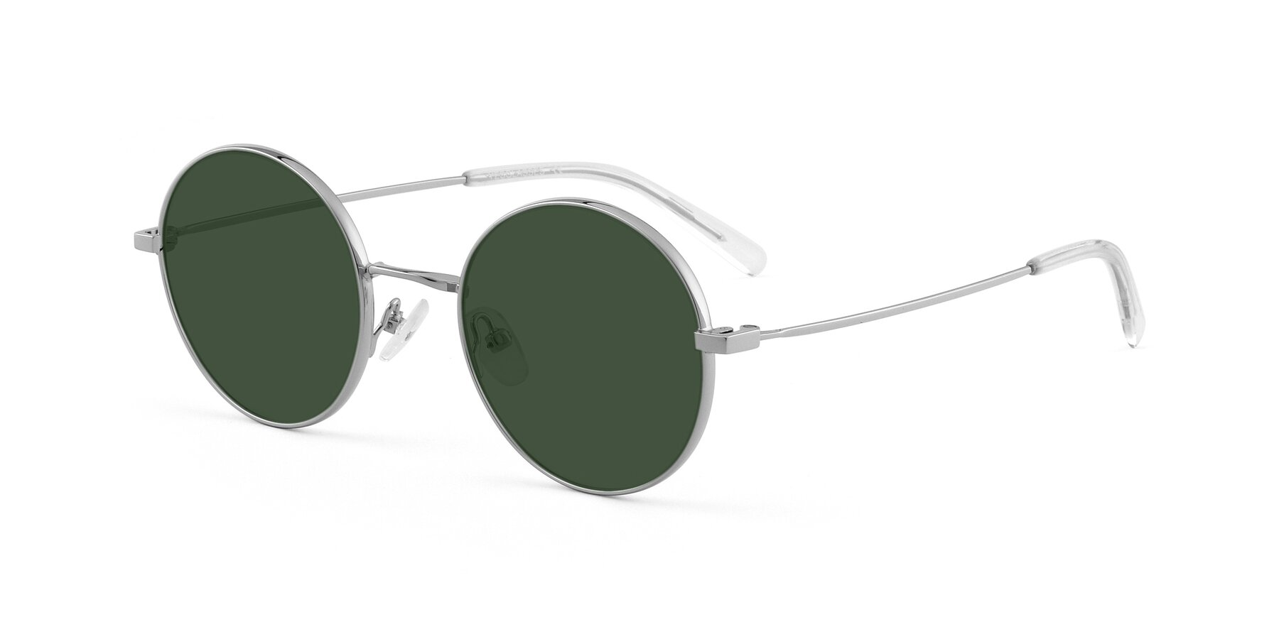 Angle of Moore in Sliver with Green Tinted Lenses