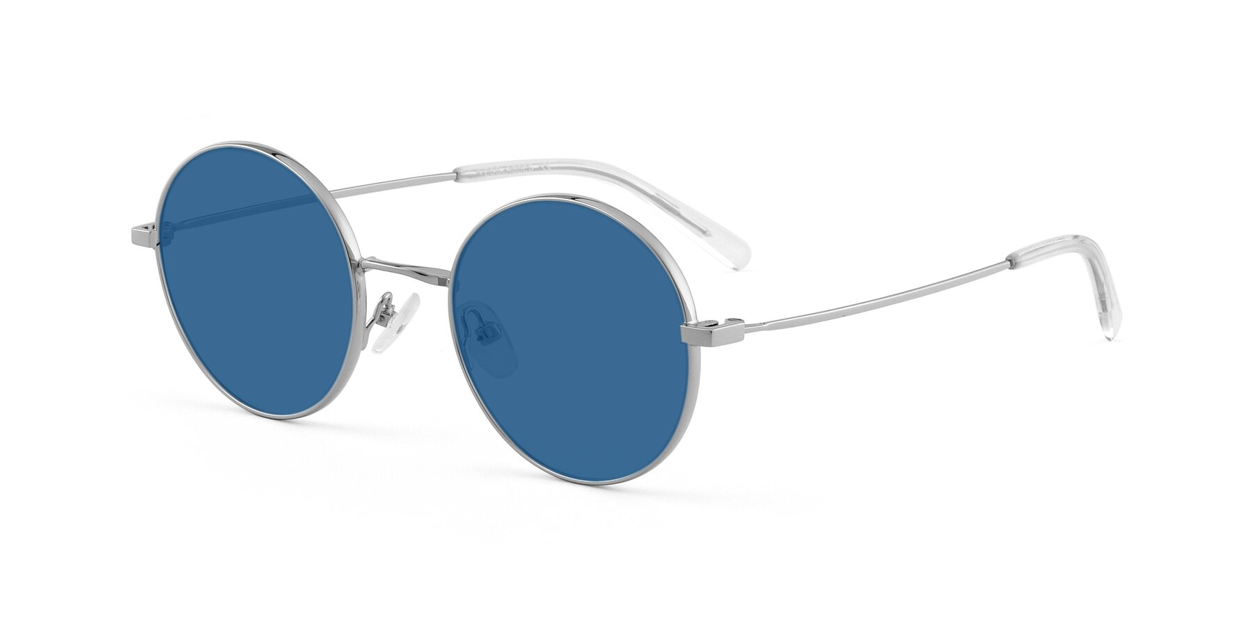 Angle of Moore in Silver with Blue Tinted Lenses