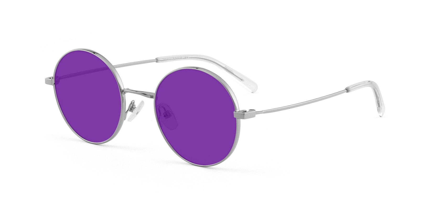 Angle of Moore in Silver with Purple Tinted Lenses
