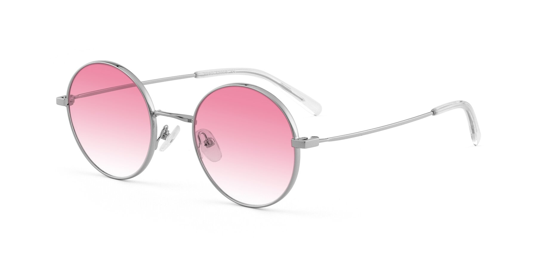 Angle of Moore in Silver with Pink Gradient Lenses