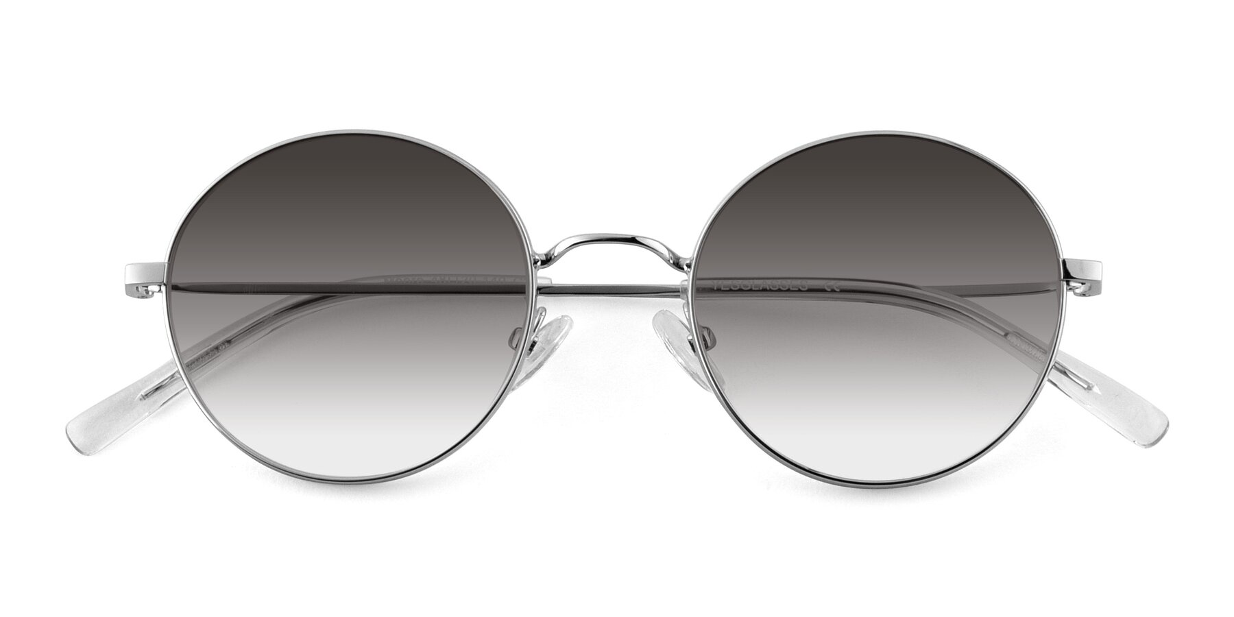 Folded Front of Moore in Silver with Gray Gradient Lenses