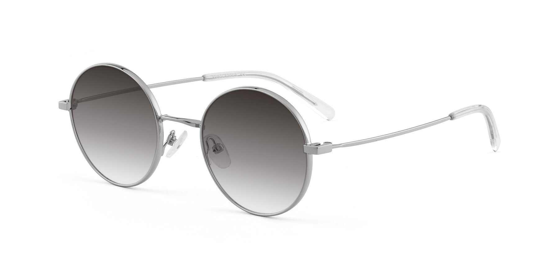 Angle of Moore in Silver with Gray Gradient Lenses