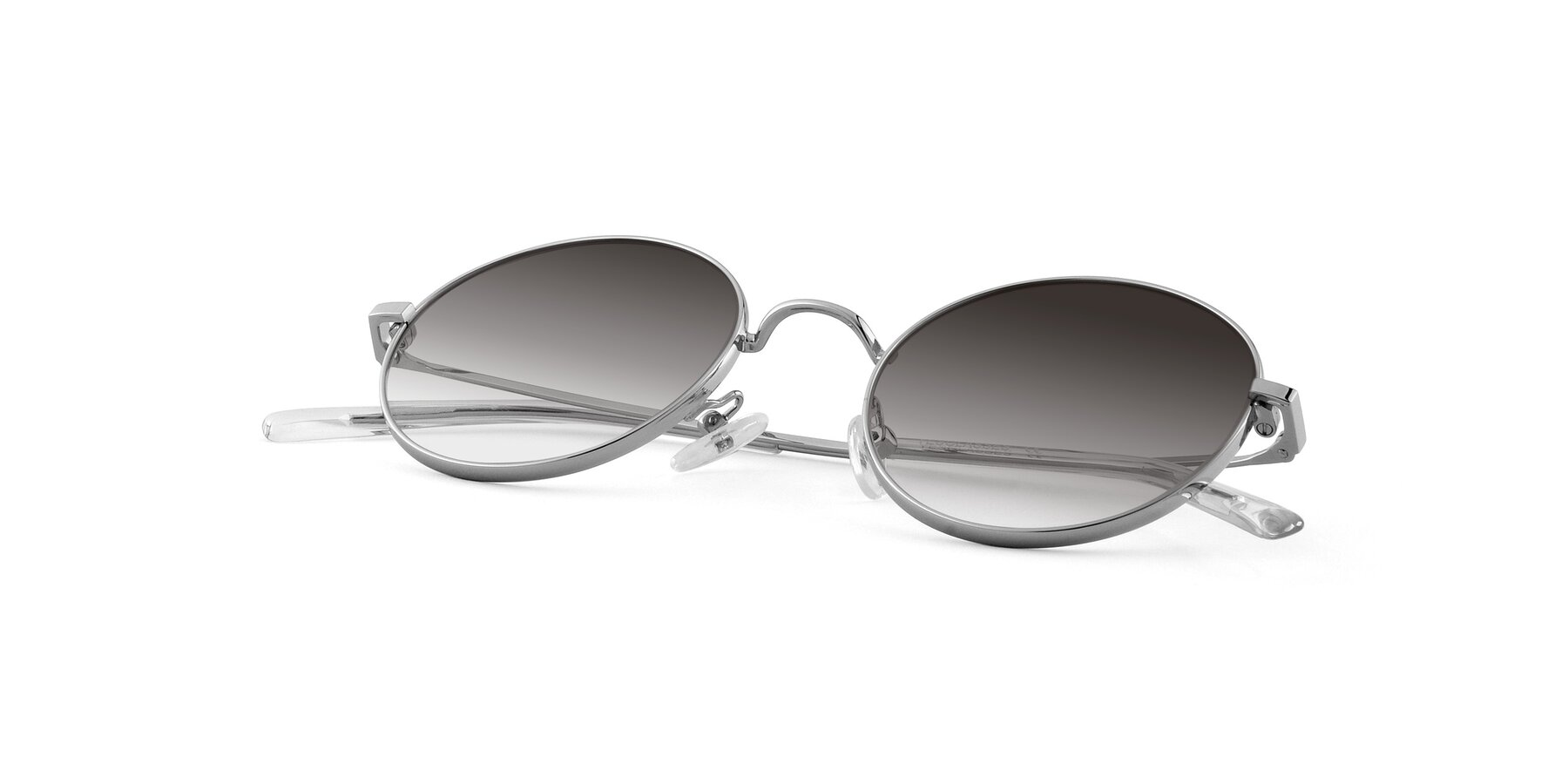 View of Moore in Silver with Gray Gradient Lenses