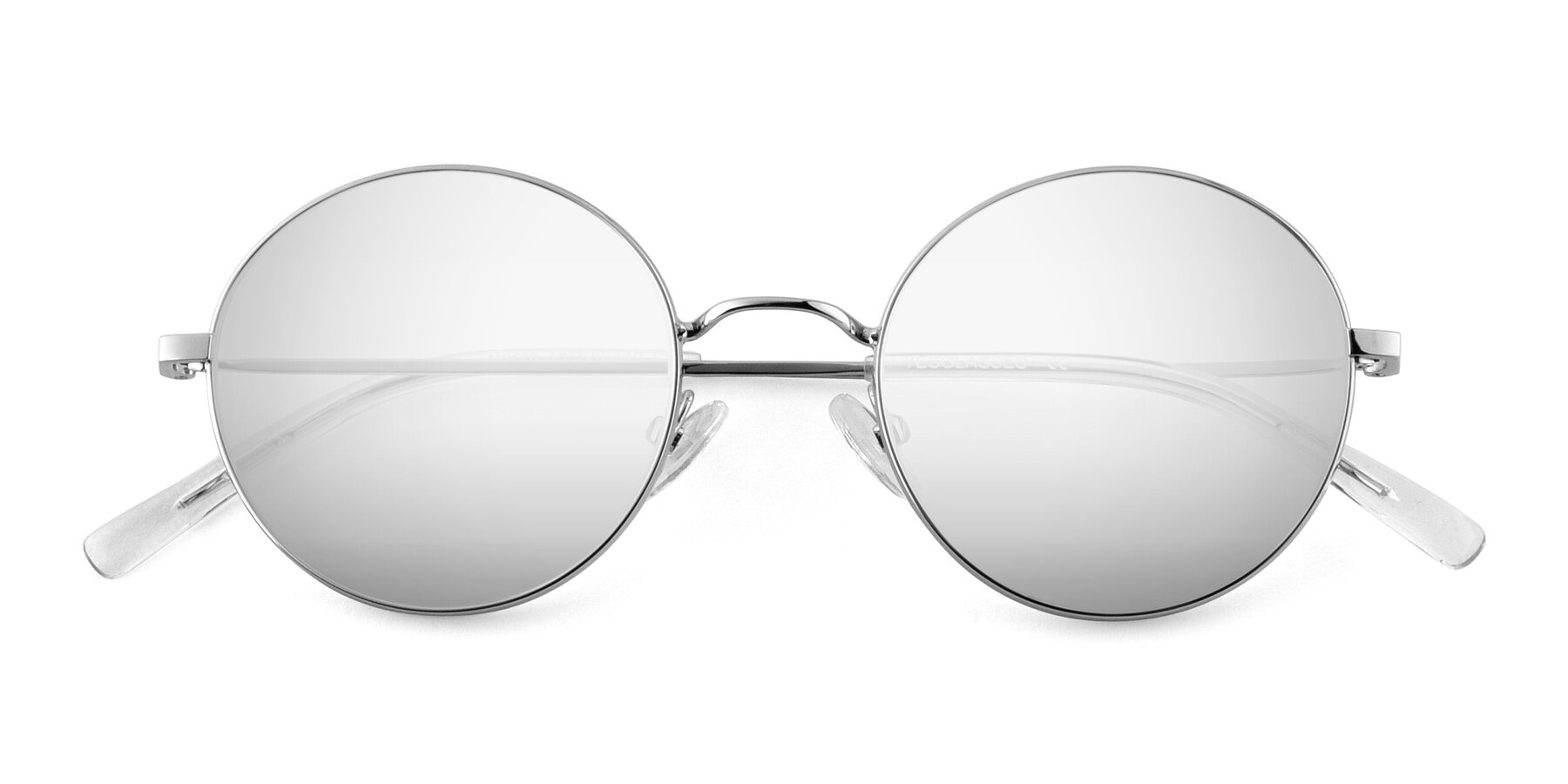 Folded Front of Moore in Silver with Silver Mirrored Lenses