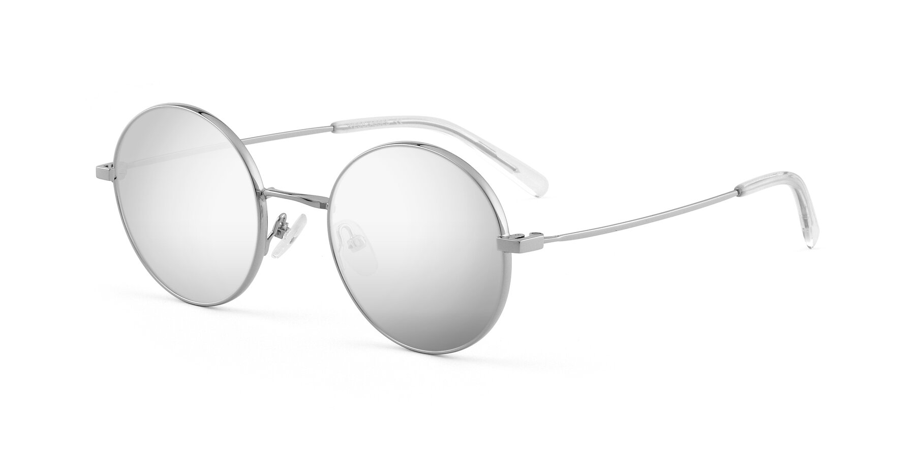 Angle of Moore in Silver with Silver Mirrored Lenses