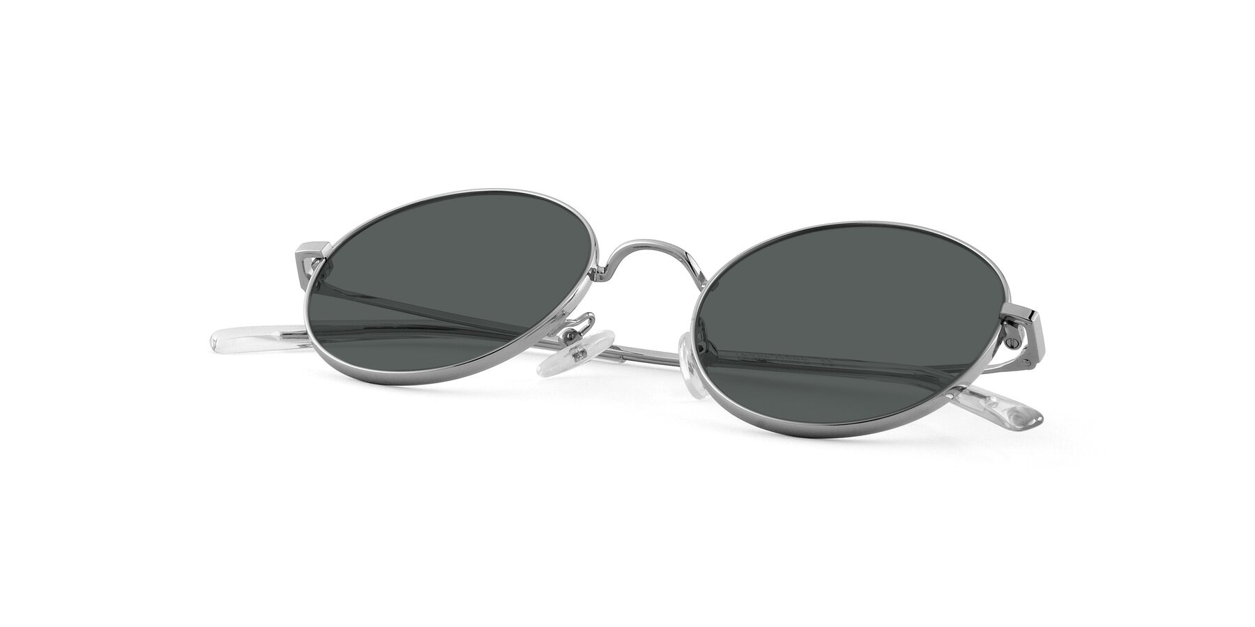 View of Moore in Silver with Gray Polarized Lenses