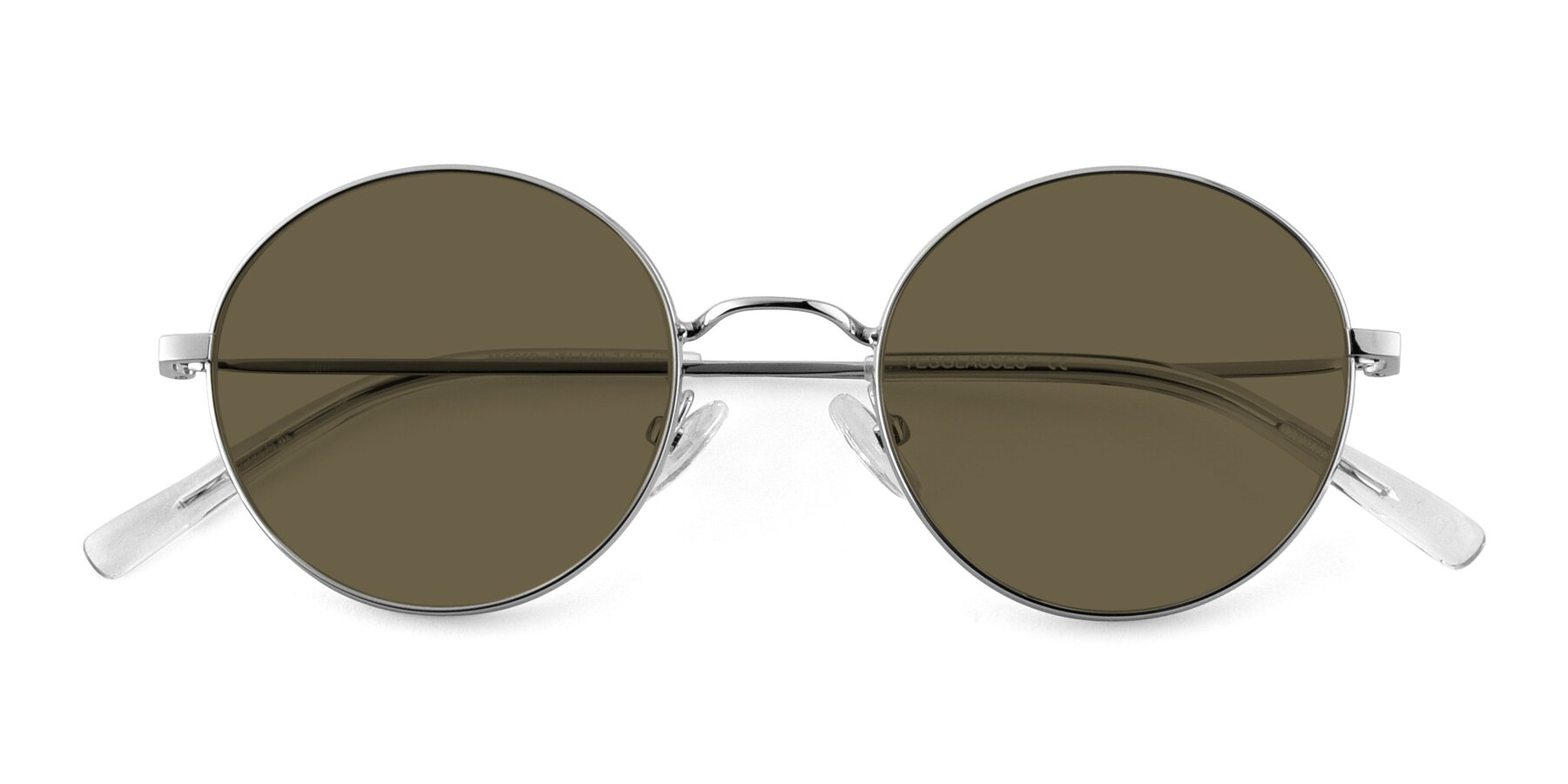 Folded Front of Moore in Silver with Brown Polarized Lenses