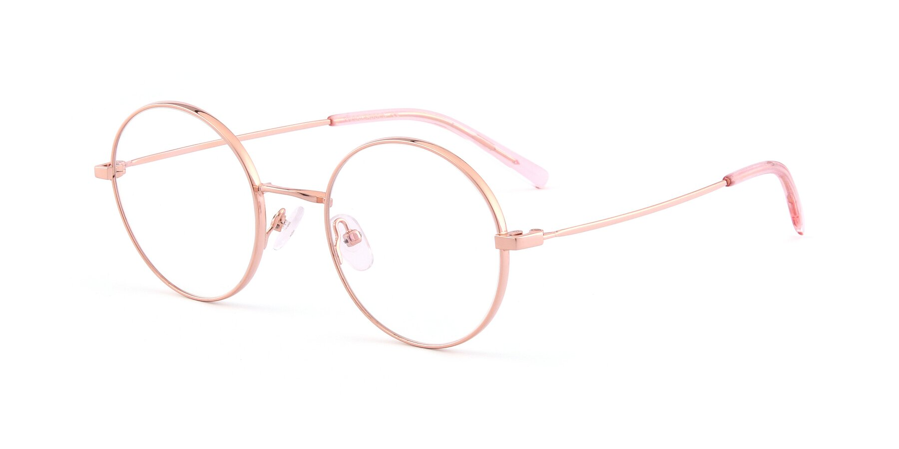 Angle of Moore in Rose Gold with Clear Eyeglass Lenses